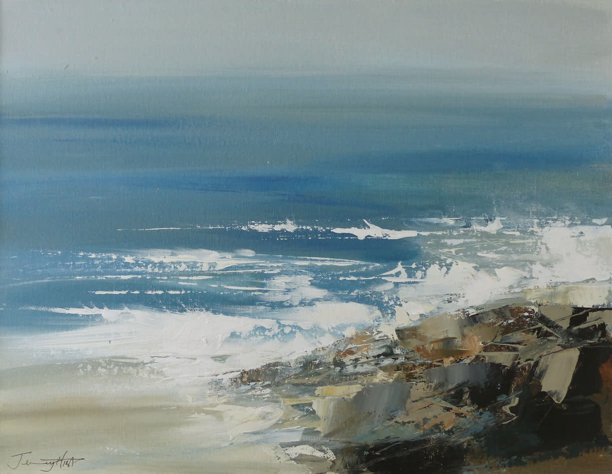 "<span class=""link fancybox-details-link""><a href=""/artists/92-jenny-hirst/works/6351-jenny-hirst-rocky-shoreline-2019/"">View Detail Page</a></span><div class=""artist""><strong>Jenny Hirst</strong></div> <div class=""title""><em>Rocky Shoreline</em>, 2019</div> <div class=""signed_and_dated"">Signed</div> <div class=""medium"">Acrylic on board</div> <div class=""dimensions"">h. 46cm x w. 35cm (plus 10cm frame)</div><div class=""price"">£750.00</div><div class=""copyright_line"">Own Art: £75 x 10 Months, 0% APR</div>"