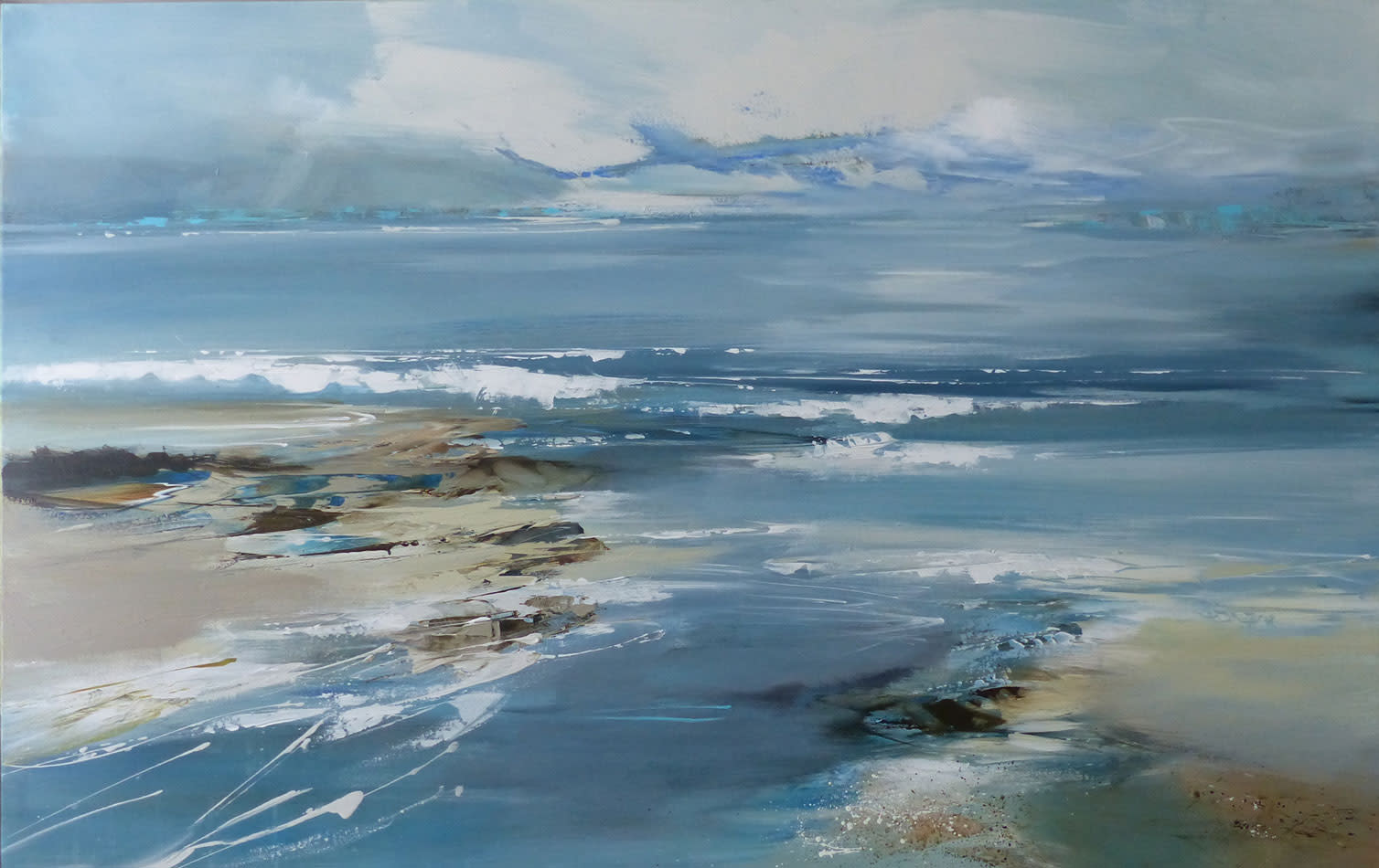 "<span class=""link fancybox-details-link""><a href=""/artists/92-jenny-hirst/works/6350-jenny-hirst-porthkidney-beach-2019/"">View Detail Page</a></span><div class=""artist""><strong>Jenny Hirst</strong></div> <div class=""title""><em>Porthkidney Beach</em>, 2019</div> <div class=""signed_and_dated"">Signed</div> <div class=""medium"">Acrylic on Canvas</div> <div class=""dimensions"">h. 60cm x w. 90cm</div><div class=""copyright_line"">Own Art: £140 x 10 Months, 0% APR</div>"