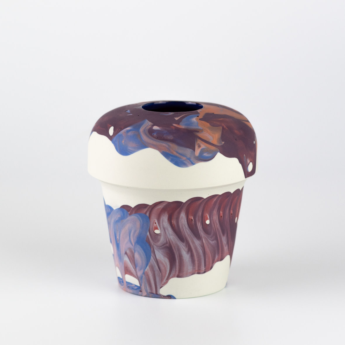 "<span class=""link fancybox-details-link""><a href=""/artists/219-james-pegg/works/6573-james-pegg-kontohondros-vase-2019/"">View Detail Page</a></span><div class=""artist""><strong>James Pegg</strong></div> <div class=""title""><em>Kontohondros Vase</em>, 2019</div> <div class=""medium"">action-cast stained porcelain with glazed interior</div><div class=""price"">£155.00</div><div class=""copyright_line"">OwnArt: £ 15.50 x 10 months, 0% APR</div>"