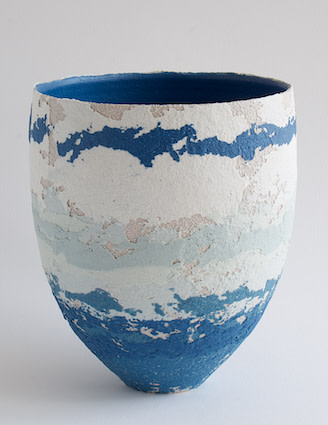 "<span class=""link fancybox-details-link""><a href=""/artists/79-clare-conrad/works/6425-clare-conrad-vessel-2019/"">View Detail Page</a></span><div class=""artist""><strong>Clare Conrad</strong></div> <div class=""title""><em>Vessel</em>, 2019</div> <div class=""medium"">Wheel-thrown stoneware with vitreous slip & satin-matt glaze.<br /> Bright blue interior</div> <div class=""dimensions"">height 16.5 cm<br /> </div><div class=""copyright_line"">OwnArt: £ 22 x 10 Months, 0% APR</div>"