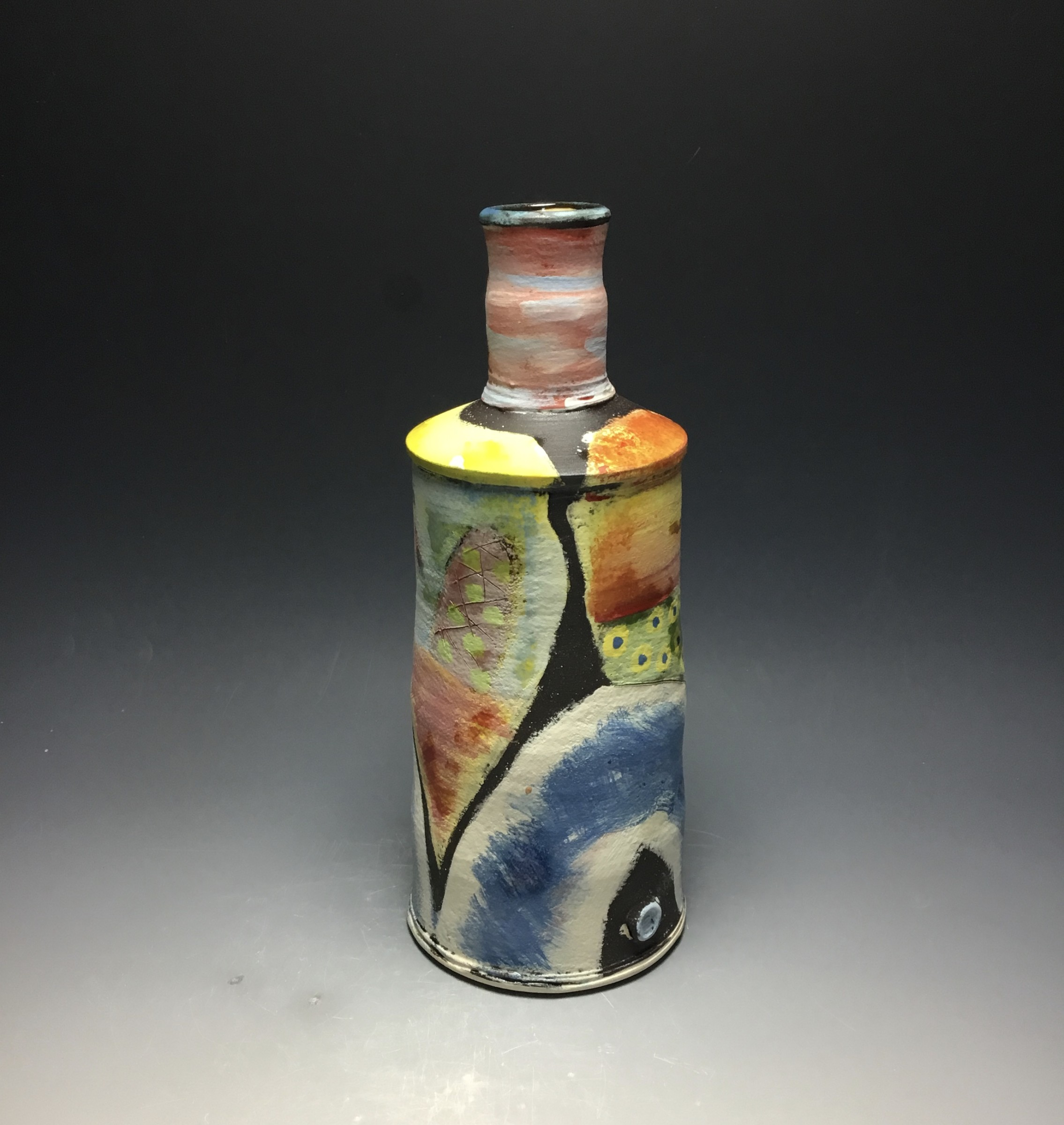 "<span class=""link fancybox-details-link""><a href=""/artists/100-john-pollex/works/6834-john-pollex-tall-bottle-2020/"">View Detail Page</a></span><div class=""artist""><strong>John Pollex</strong></div> <div class=""title""><em>Tall Bottle</em>, 2020</div> <div class=""medium"">Earthenware</div> <div class=""dimensions"">h. 11in</div><div class=""price"">£440.00</div><div class=""copyright_line"">Copyright The Artist</div>"