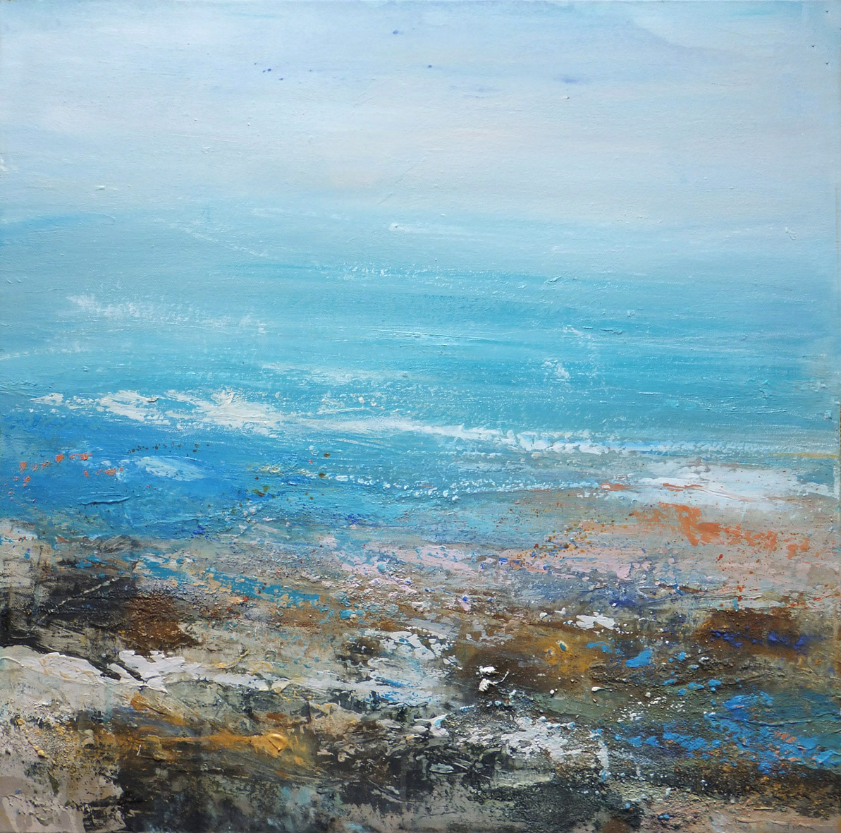 "<span class=""link fancybox-details-link""><a href=""/artists/66-joanne-last/works/6356-joanne-last-remembering-rock-pools-1-2019/"">View Detail Page</a></span><div class=""artist""><strong>Joanne Last</strong></div> <div class=""title""><em>Remembering Rock Pools 1</em>, 2019</div> <div class=""signed_and_dated"">Signed and dated on the reverse</div> <div class=""medium"">Mixed media on canvas</div> <div class=""dimensions"">60 x 60cm</div><div class=""price"">£900.00</div><div class=""copyright_line"">Own Art £90 x 10months, 0% APR</div>"