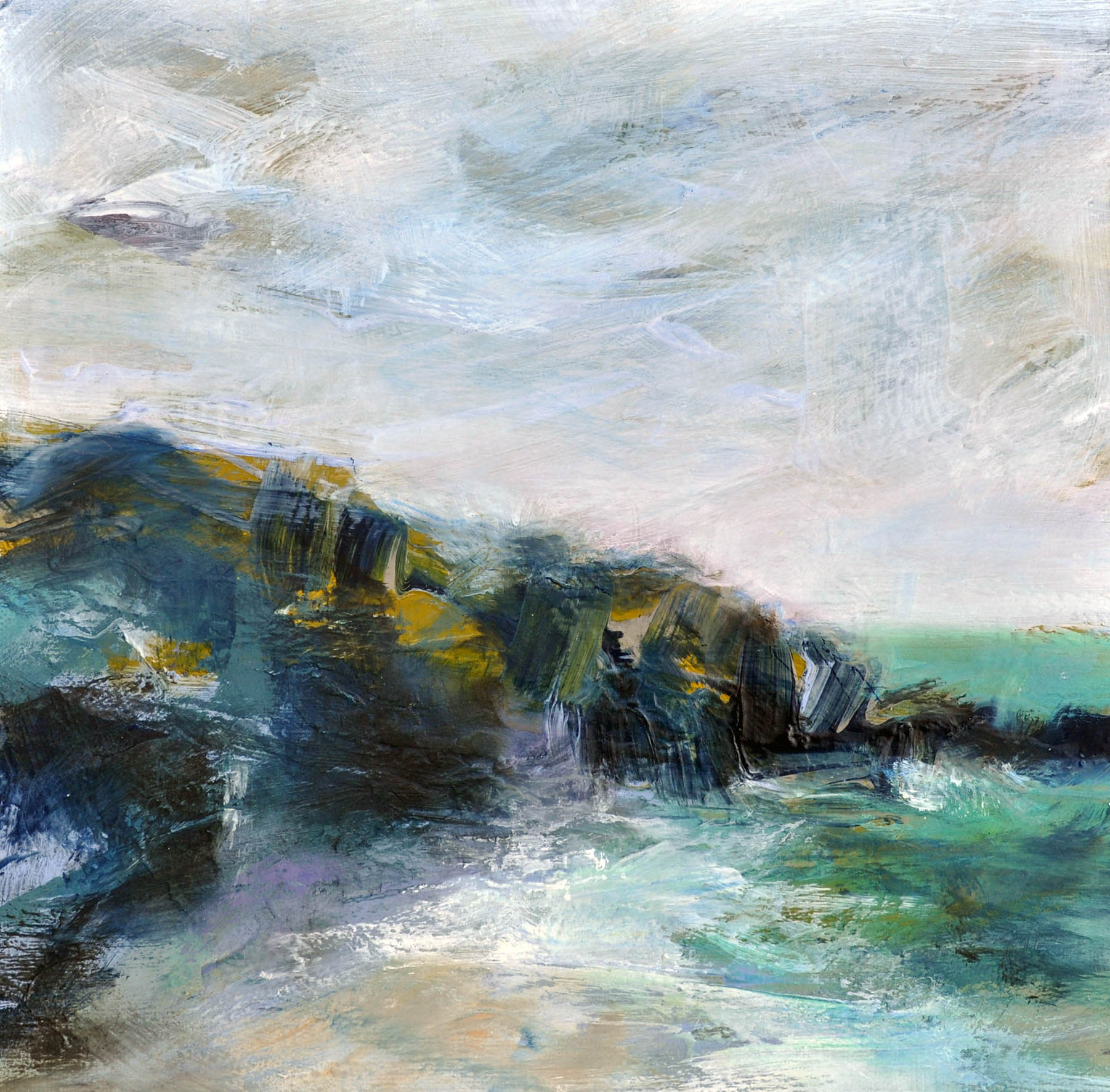 "<span class=""link fancybox-details-link""><a href=""/artists/90-freya-horsley/works/7037-freya-horsley-our-cove-2020/"">View Detail Page</a></span><div class=""artist""><strong>Freya Horsley</strong></div> <div class=""title""><em>Our Cove</em>, 2020 </div> <div class=""medium"">mixed media on board</div> <div class=""dimensions"">h. 40 x w. 40 cm </div><div class=""copyright_line"">Ownart: £65 x 10 Months, 0% APR</div>"