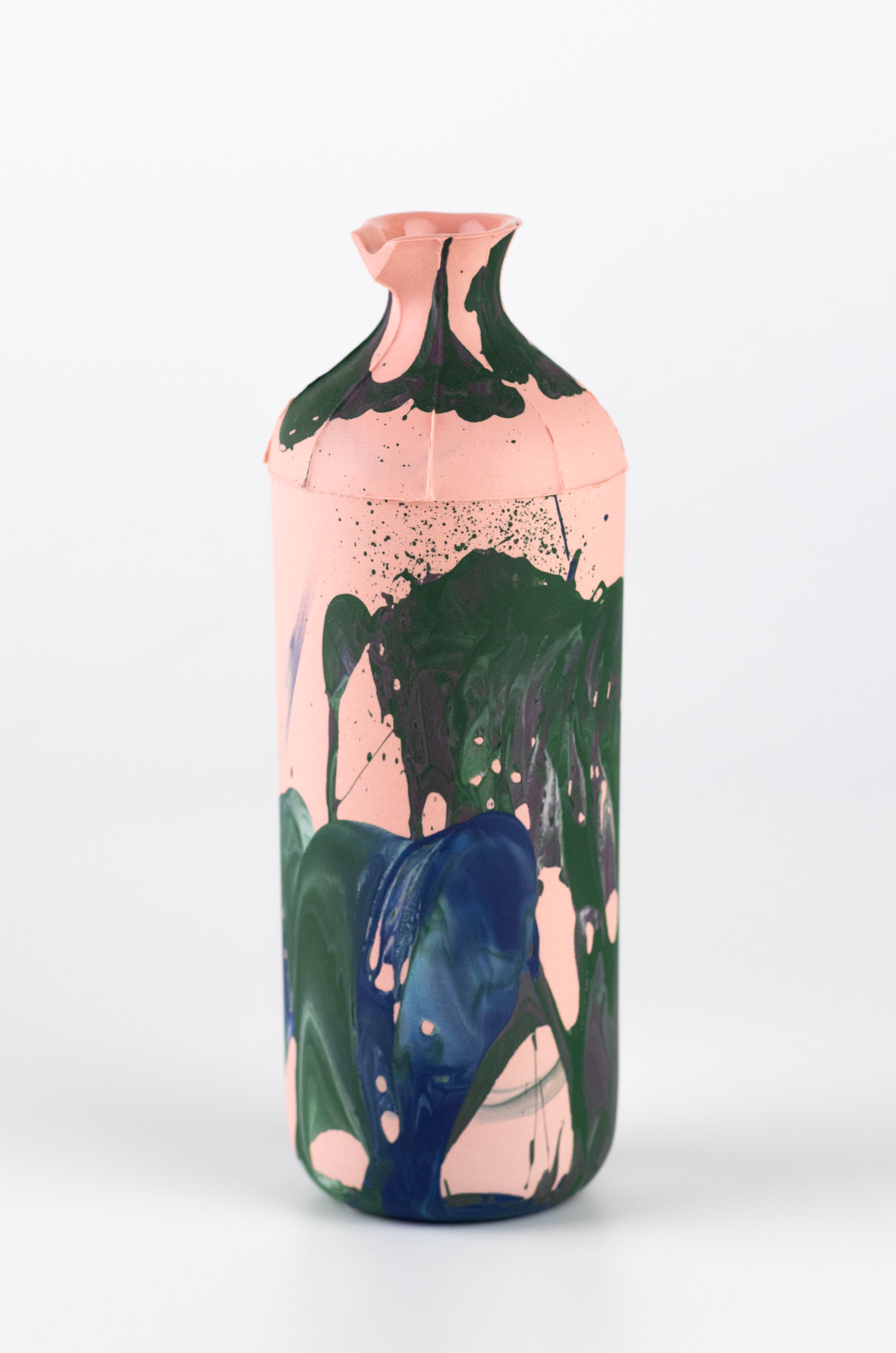 "<span class=""link fancybox-details-link""><a href=""/artists/219-james-pegg/works/6568-james-pegg-tall-bottle-2019/"">View Detail Page</a></span><div class=""artist""><strong>James Pegg</strong></div> <div class=""title""><em>Tall Bottle</em>, 2019</div> <div class=""medium"">action-cast stained porcelain with glazed interior</div> <div class=""dimensions"">h 17cm, dia 6 cm</div><div class=""price"">£120.00</div><div class=""copyright_line"">OwnArt: £ 12 x 10 Months, 0% APR </div>"