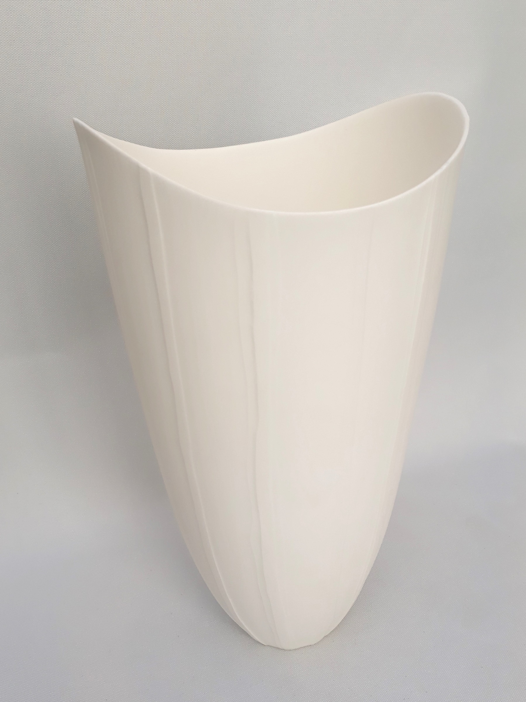 "<span class=""link fancybox-details-link""><a href=""/artists/60-sasha-wardell/works/4126-sasha-wardell-tall-ripple-vase-2017/"">View Detail Page</a></span><div class=""artist""><strong>Sasha Wardell</strong></div> <div class=""title""><em>Tall Ripple Vase</em>, 2017</div> <div class=""signed_and_dated"">inscribed with artist initials on base</div> <div class=""medium"">layered and sliced bone china</div> <div class=""dimensions"">h. 23 x w. 14 cm</div><div class=""copyright_line"">OwnArt: £ 21 x 10 Months, 0% APR</div>"