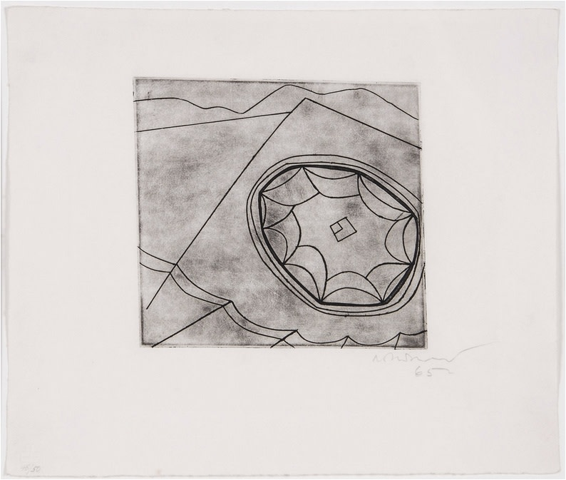 "<span class=""link fancybox-details-link""><a href=""/artists/112-ben-nicholson-om/works/2521-ben-nicholson-om-olympic-fragment-c.118-1965/"">View Detail Page</a></span><div class=""artist""><strong>Ben Nicholson OM</strong></div> 1894–1982 <div class=""title""><em>Olympic Fragment (C.118)</em>, 1965</div> <div class=""signed_and_dated"">Signed, dated and numbered 48/50 in pencil to the margin</div> <div class=""medium"">Etching on wove paper, with full margins</div> <div class=""dimensions"">Plate size: 18.5 x 19.7 cm<br />7 1/4 x 7 3/4 inches<br /><br />Sheet size: 30.5 x 36 cm<br />12 1/8 x 14 1/8 inches</div> <div class=""edition_details"">48/50</div><div class=""copyright_line"">Copyright The Artist</div>"