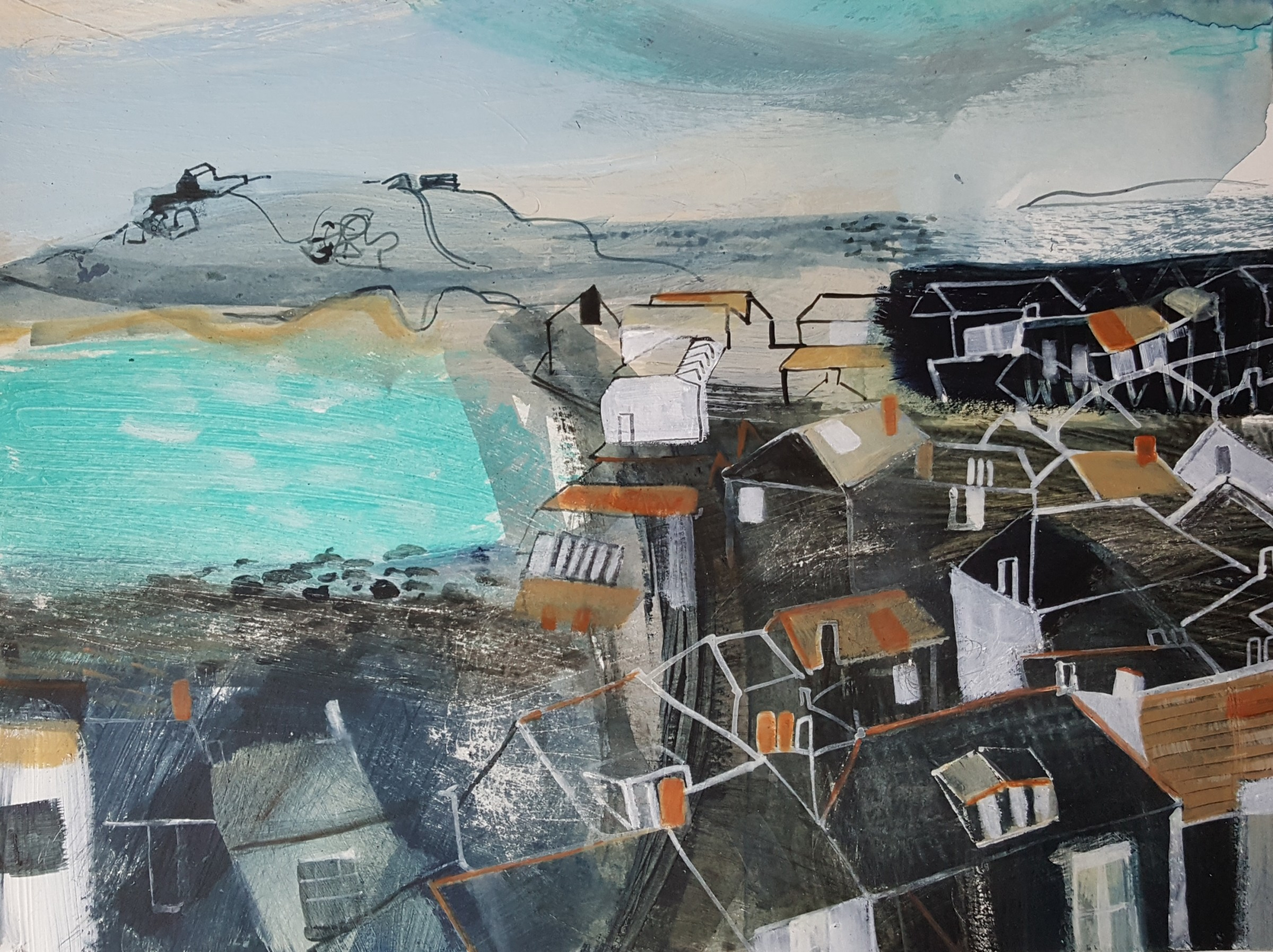 <span class=&#34;link fancybox-details-link&#34;><a href=&#34;/artists/177-jane-askey/works/5511-jane-askey-st-ives-rooftops-2018/&#34;>View Detail Page</a></span><div class=&#34;artist&#34;><strong>Jane Askey</strong></div> <div class=&#34;title&#34;><em>St Ives Rooftops</em>, 2018</div> <div class=&#34;signed_and_dated&#34;>signed</div> <div class=&#34;medium&#34;>mixed media on paper</div> <div class=&#34;dimensions&#34;>38 x 45 cm<br /> 15 x 17 3/4 inches</div><div class=&#34;copyright_line&#34;>OwnArt: £ 40 x 10 Months, 0% APR</div>