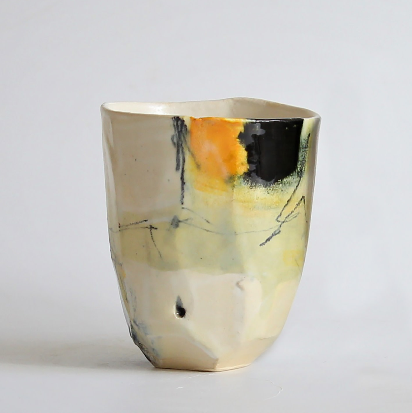 "<span class=""link fancybox-details-link""><a href=""/artists/34-barry-stedman/works/6733-barry-stedman-each-passing-day-series-vessel-h-2019/"">View Detail Page</a></span><div class=""artist""><strong>Barry Stedman</strong></div> <div class=""title""><em>'Each Passing Day' Series Vessel (H)</em>, 2019</div> <div class=""medium"">thrown, altered earthenware</div> <div class=""dimensions"">10.5 x 9 cm</div><div class=""price"">£132.00</div><div class=""copyright_line"">Own Art: £ 13.20 x 10 Months, 0% APR</div>"