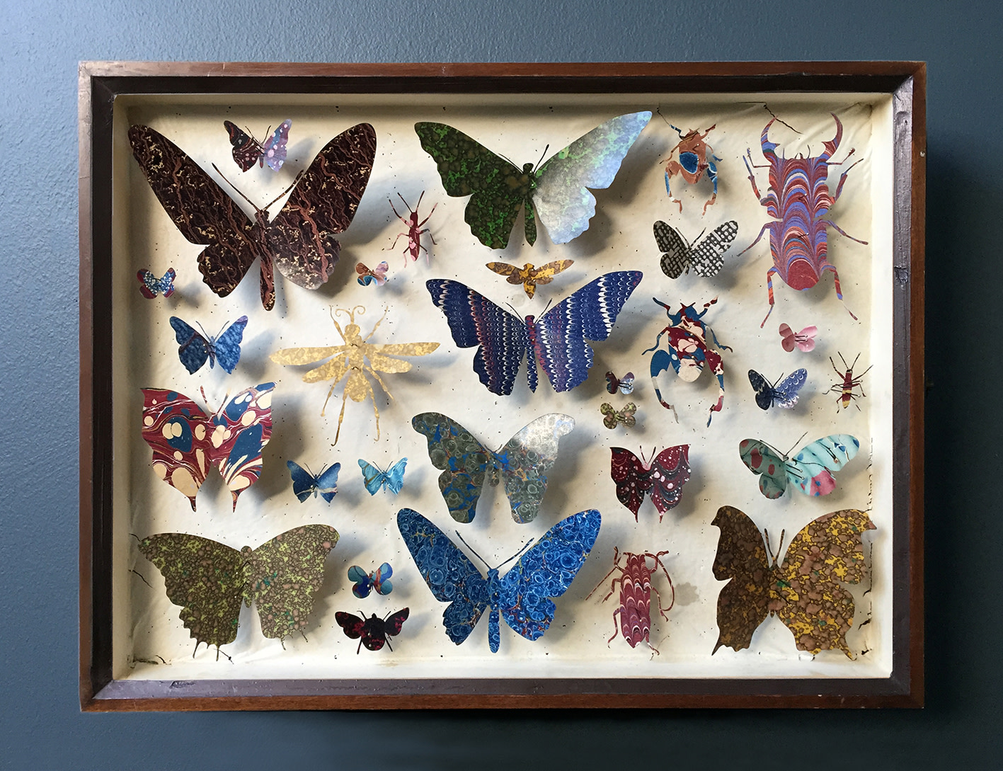 <span class=&#34;link fancybox-details-link&#34;><a href=&#34;/artists/142-helen-ward/works/6237-helen-ward-entomology-case-11-2019/&#34;>View Detail Page</a></span><div class=&#34;artist&#34;><strong>Helen Ward</strong></div> <div class=&#34;title&#34;><em>Entomology Case 11</em>, 2019</div> <div class=&#34;medium&#34;>Victorian entomology drawer, hand-marbled papers, enamel pins</div> <div class=&#34;dimensions&#34;>29 x 39 cm</div><div class=&#34;price&#34;>£595.00</div><div class=&#34;copyright_line&#34;>Own Art: £ 59.50 x 10 Monthly 0% APR Representative Payments</div>