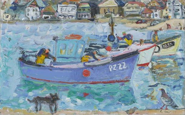 """<span class=""""link fancybox-details-link""""><a href=""""/artists/67-linda-weir/works/2847-linda-weir-pz22-st-ives-2011/"""">View Detail Page</a></span><div class=""""artist""""><strong>Linda Weir</strong></div> <div class=""""title""""><em>PZ22, St Ives</em>, 2011</div> <div class=""""signed_and_dated"""">signed and dated</div> <div class=""""medium"""">oil on board</div> <div class=""""dimensions"""">25.4 x 40.64 cm<br />10 x 16 inches</div><div class=""""price"""">£850.00</div><div class=""""copyright_line"""">£70 x 10 monthly Own Art payments @ 0% APR</div>"""