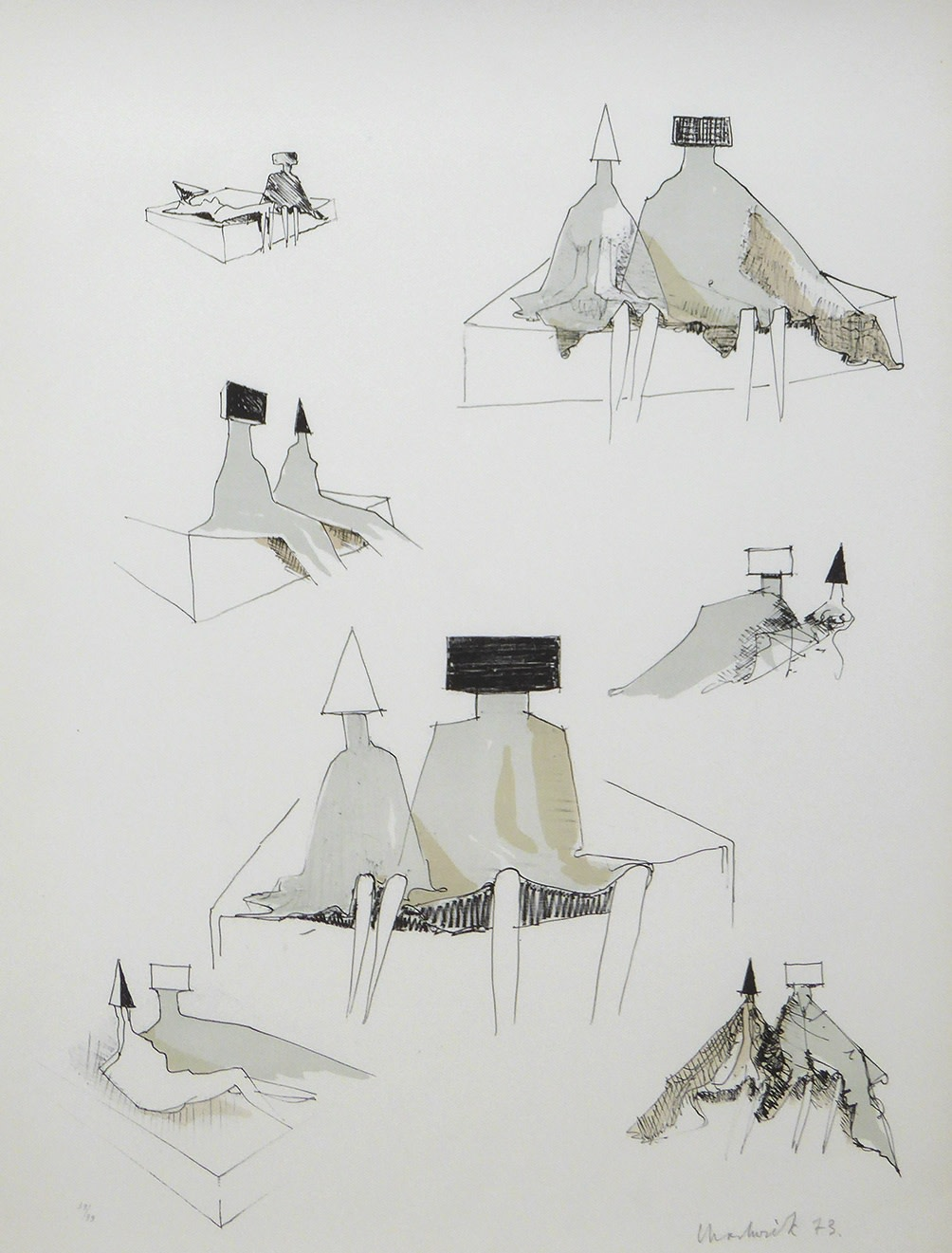 <span class=&#34;link fancybox-details-link&#34;><a href=&#34;/artists/55-lynn-chadwick-cbe/works/2517-lynn-chadwick-cbe-seated-figures-1971-published-1973/&#34;>View Detail Page</a></span><div class=&#34;artist&#34;><strong>Lynn Chadwick CBE</strong></div> 1914–2003 <div class=&#34;title&#34;><em>Seated Figures</em>, 1971, published 1973</div> <div class=&#34;signed_and_dated&#34;>signed, dated and numbered in pencil</div> <div class=&#34;medium&#34;>lithograph on watermarked BFK Rives paper</div> <div class=&#34;dimensions&#34;>Sheet size: 70.5 x 50.2 cm<br />27 3/4 x 19 3/4 inches</div> <div class=&#34;edition_details&#34;>39/100</div>