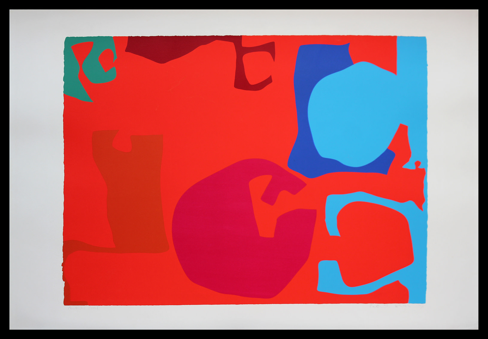 <span class=&#34;link fancybox-details-link&#34;><a href=&#34;/artists/93-patrick-heron-cbe/works/3971-patrick-heron-cbe-untitled-1971/&#34;>View Detail Page</a></span><div class=&#34;artist&#34;><strong>Patrick Heron CBE</strong></div> 1920 – 1999 <div class=&#34;title&#34;>Untitled, 1971</div> <div class=&#34;signed_and_dated&#34;>signed and dated '71' in pencil</div> <div class=&#34;medium&#34;>silkscreen print in colours on wove paper, with full margins, <br /> </div> <div class=&#34;dimensions&#34;>image: 59 x 79 cm (23 2/8 x 31 1/8 in.)<br /> sheet: 71 x 102 cm (28 x 40 1/8 in.)</div> <div class=&#34;edition_details&#34;>Artist's Proof aside from the edition of 75</div><div class=&#34;copyright_line&#34;>© The Estate of Patrick Heron</div>
