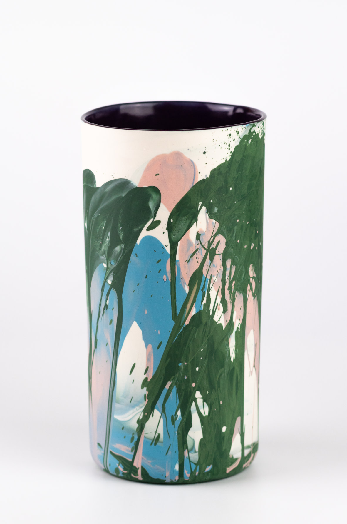 "<span class=""link fancybox-details-link""><a href=""/artists/219-james-pegg/works/6571-james-pegg-fountouki-vase-2019/"">View Detail Page</a></span><div class=""artist""><strong>James Pegg</strong></div> <div class=""title""><em>Fountouki Vase</em>, 2019</div> <div class=""medium"">action-cast stained porcelain with glazed interior</div><div class=""price"">£145.00</div><div class=""copyright_line"">OwnArt: £ 14.50 x 10 months, 0% APR</div>"