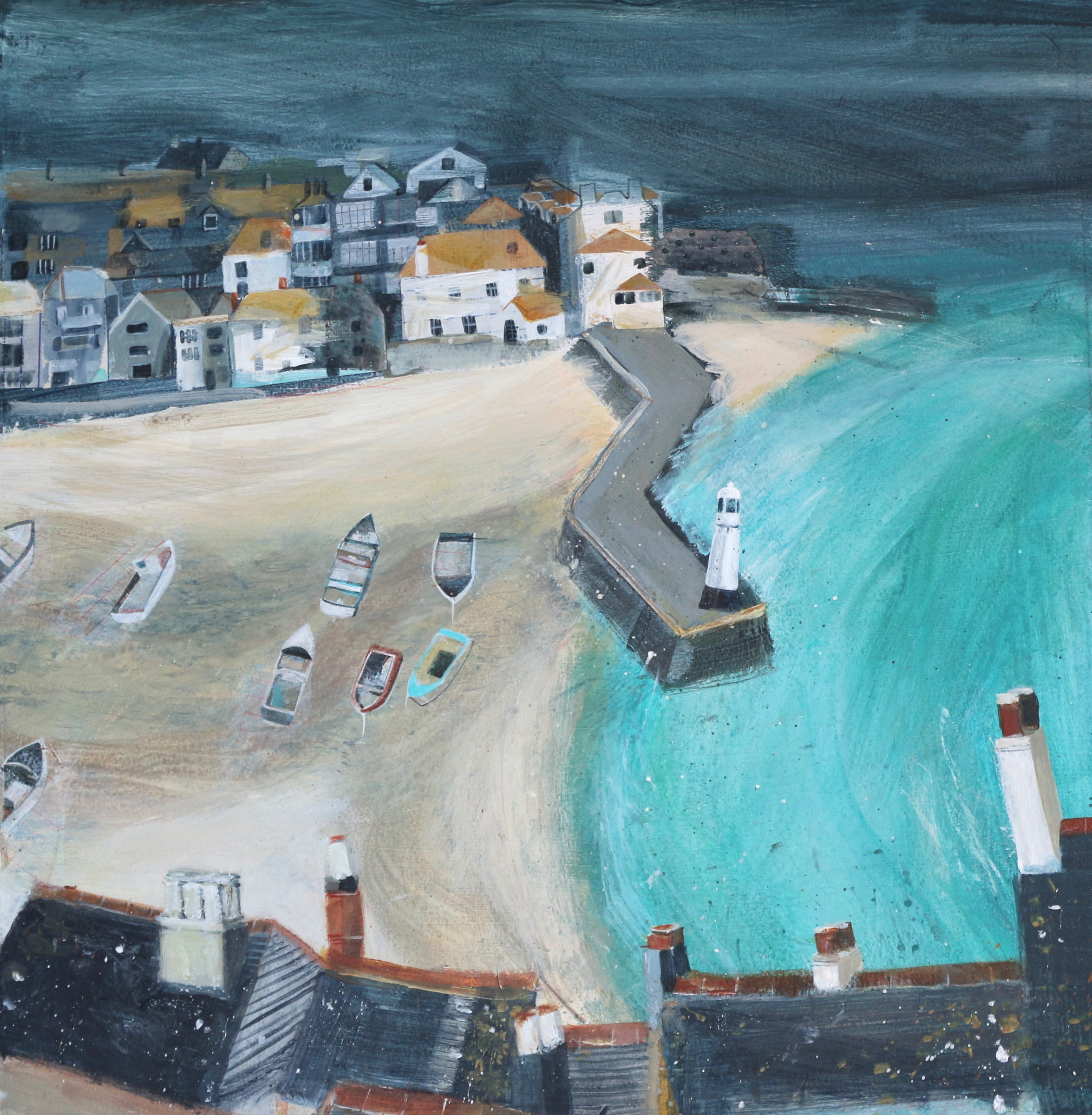 <span class=&#34;link fancybox-details-link&#34;><a href=&#34;/artists/177-jane-askey/works/5521-jane-askey-smeaton-s-pier-from-above-2018/&#34;>View Detail Page</a></span><div class=&#34;artist&#34;><strong>Jane Askey</strong></div> <div class=&#34;title&#34;><em>Smeaton's Pier from Above</em>, 2018</div> <div class=&#34;signed_and_dated&#34;>signed</div> <div class=&#34;medium&#34;>mixed media on paper</div> <div class=&#34;dimensions&#34;>53 x 53 cm<br /> 20 7/8 x 20 7/8 inches</div><div class=&#34;copyright_line&#34;>OwnArt: £ 95 x 10 Months, 0% APR</div>