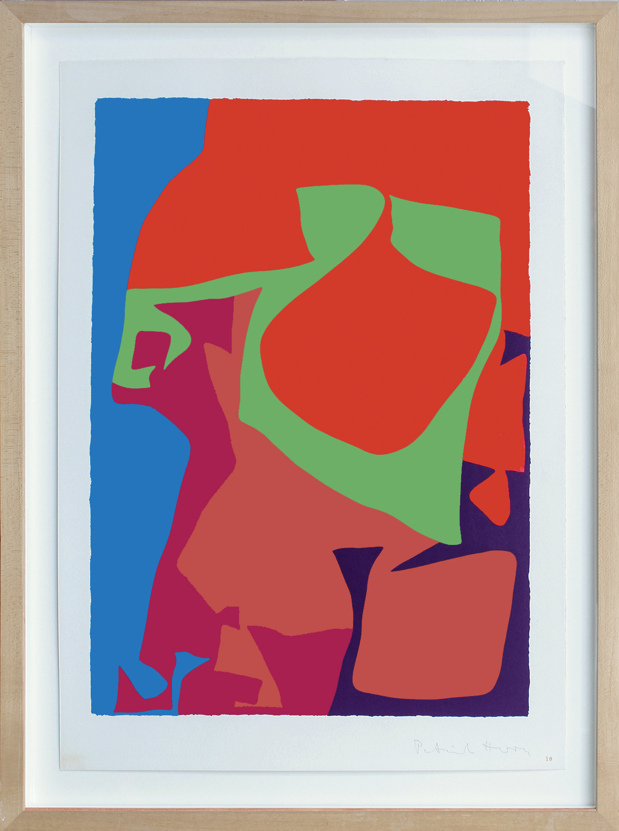 <span class=&#34;link fancybox-details-link&#34;><a href=&#34;/artists/93-patrick-heron-cbe/works/5660-patrick-heron-cbe-first-vertical-screenprint-18-from-shapes-of-1978/&#34;>View Detail Page</a></span><div class=&#34;artist&#34;><strong>Patrick Heron CBE</strong></div> 1920 – 1999 <div class=&#34;title&#34;><em>First Vertical Screenprint : 18 from 'Shapes of Colour' suite</em>, 1978</div> <div class=&#34;signed_and_dated&#34;>signed 'Patrick Heron' in pencil, lower right</div> <div class=&#34;medium&#34;>silkscreen printed in colours on Velin Arches paper</div> <div class=&#34;dimensions&#34;>image size: 43 x 30 cm<br /> 16 7/8 x 11 3/4 in<br /> sheet size: 50 x 35.2 cm<br /> 19 3/4 x 13 7/8 in</div> <div class=&#34;edition_details&#34;>from the edition of 50 signed copies of each of the 20 prints, numbered 1 to 50, aside from 10 Artist's Proofs</div><div class=&#34;copyright_line&#34;>© The Estate of Patrick Heron</div>