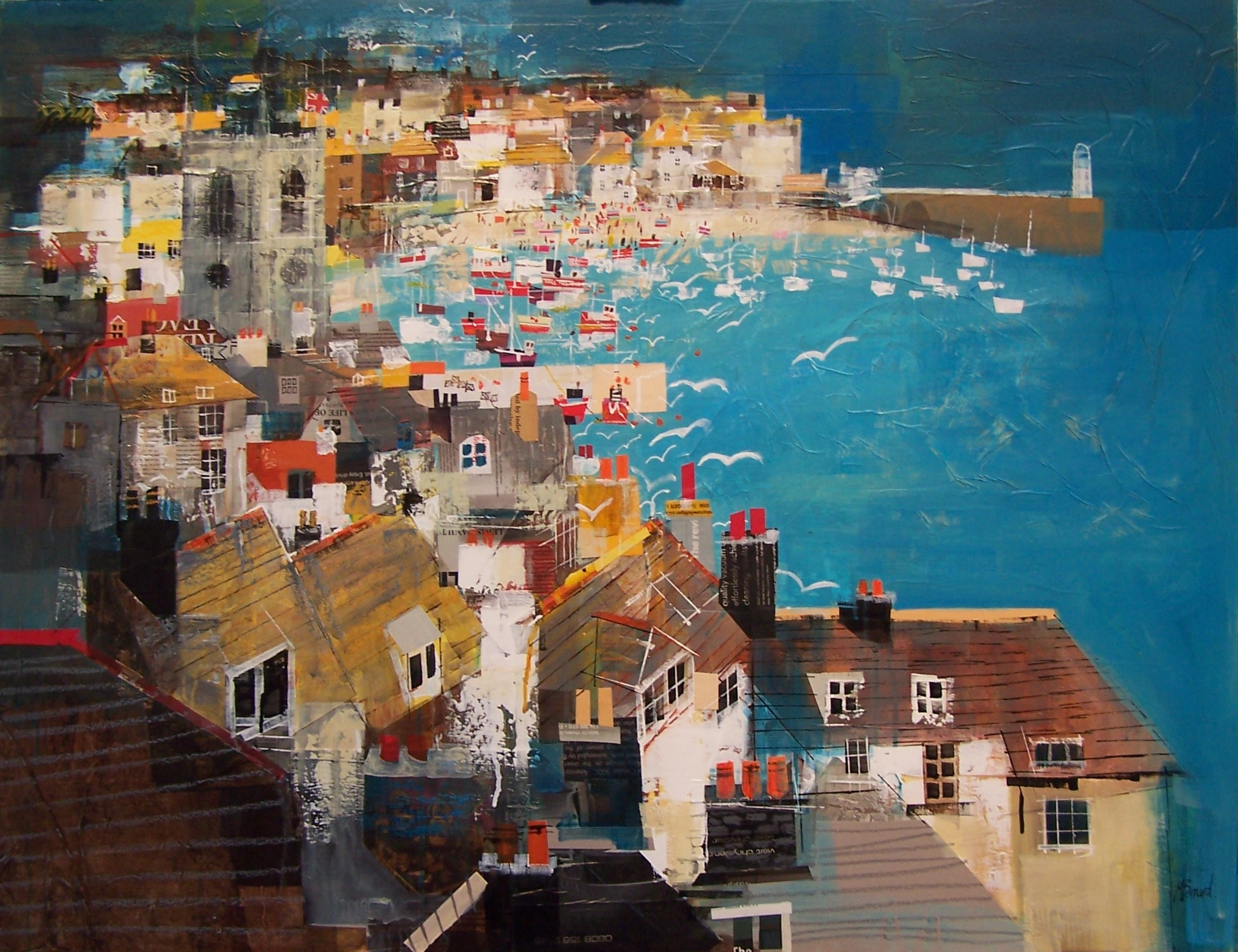 "<span class=""link fancybox-details-link""><a href=""/artists/155-mike-bernard-ri/works/5786-mike-bernard-ri-st-ives-bay-2018/"">View Detail Page</a></span><div class=""artist""><strong>Mike Bernard RI</strong></div> <div class=""title""><em>St Ives Bay</em>, 2018</div> <div class=""signed_and_dated"">signed by the artist</div> <div class=""medium"">Mixed media on canvas</div> <div class=""dimensions"">86.4 x 111.8 cm<br /> 34 x 44 inches</div>"