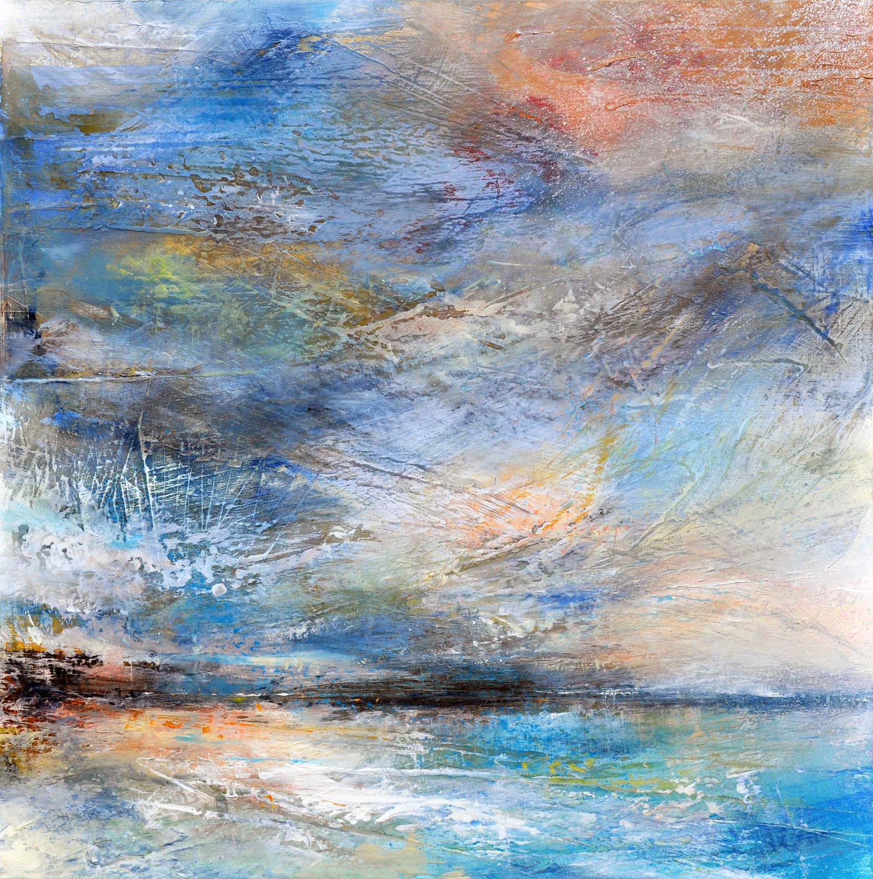 """<span class=""""link fancybox-details-link""""><a href=""""/artists/90-freya-horsley/works/6263-freya-horsley-seeing-ahead-2019/"""">View Detail Page</a></span><div class=""""artist""""><strong>Freya Horsley</strong></div> <div class=""""title""""><em>Seeing Ahead</em>, 2019</div> <div class=""""medium"""">Mixed media on canvas</div> <div class=""""dimensions"""">43 x 43 cm</div><div class=""""copyright_line"""">Own Art £75 x 10 months, 0% APR</div>"""