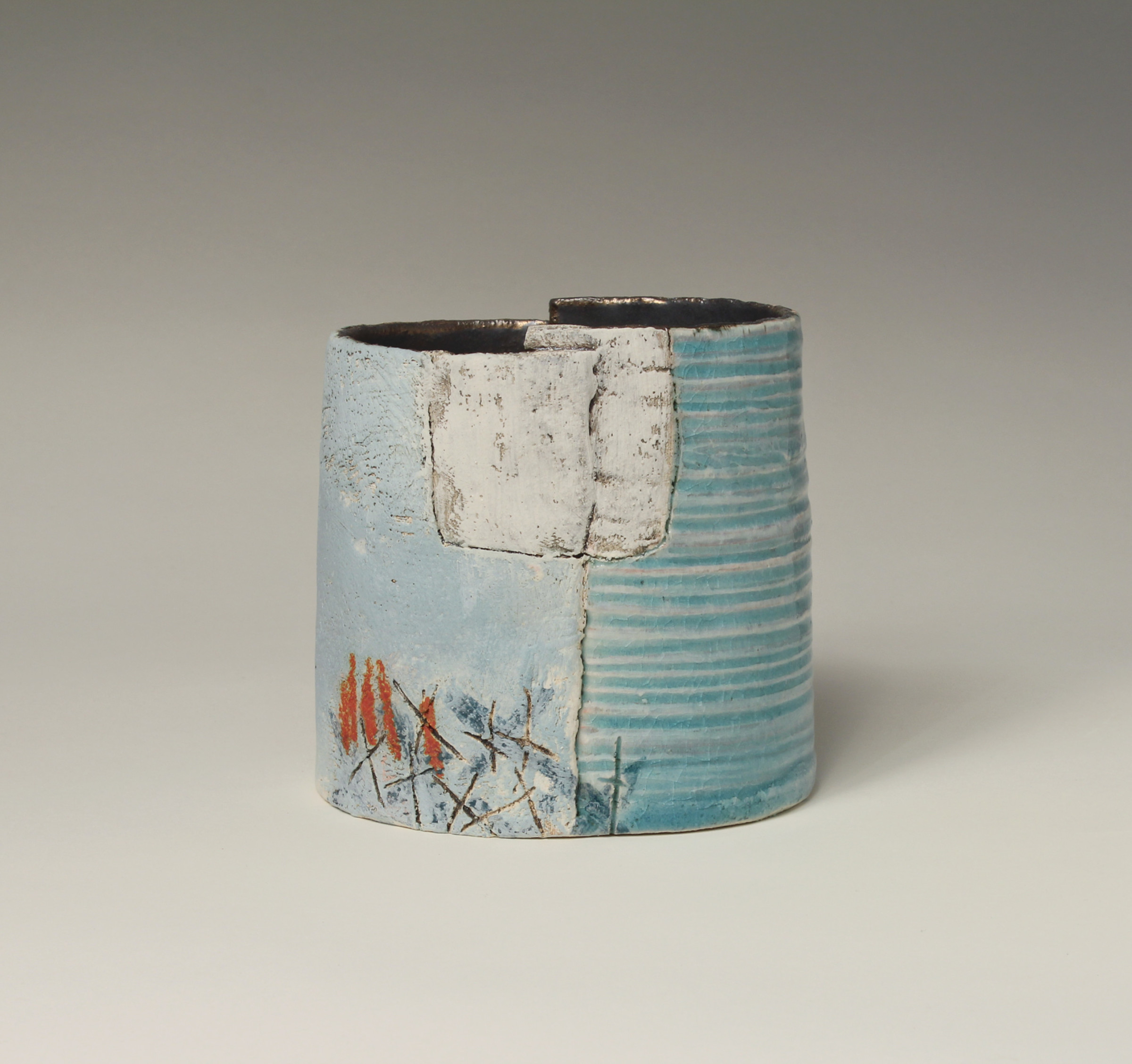 "<span class=""link fancybox-details-link""><a href=""/artists/72-craig-underhill/works/5624-craig-underhill-small-vessel-water-2018/"">View Detail Page</a></span><div class=""artist""><strong>Craig Underhill</strong></div> <div class=""title""><em>Small Vessel - Water</em>, 2018</div> <div class=""medium"">slab-built, engobe layers, slips & glazes</div><div class=""copyright_line"">£ 16 x 10 Months, OwnArt 0% APR</div>"