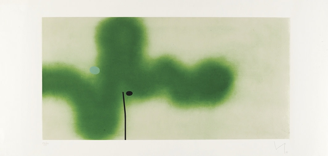 "<span class=""link fancybox-details-link""><a href=""/artists/84-victor-pasmore-ch-cbe/works/2345-victor-pasmore-ch-cbe-senza-titolo-4-1989/"">View Detail Page</a></span><div class=""artist""><strong>Victor Pasmore CH CBE</strong></div> 1908–1998 <div class=""title""><em>Senza Titolo 4</em>, 1989</div> <div class=""signed_and_dated"">Signed, dated and numbered 59/90 in pencil to the margin</div> <div class=""medium"">etching and aquatint in colours on chine collé supported on wove paper with full margins</div> <div class=""dimensions"">plate size: 49 x 100 cm<br />19 1/4 x 39 3/8 inches<br /><br />sheet size: 69.8 x 140 cm<br />27 1/2 x 55 1/8 inches</div> <div class=""edition_details"">59/90 aside from 15 Artist's Proofs.</div><div class=""copyright_line"">© The Estate of Victor Pasmore</div>"