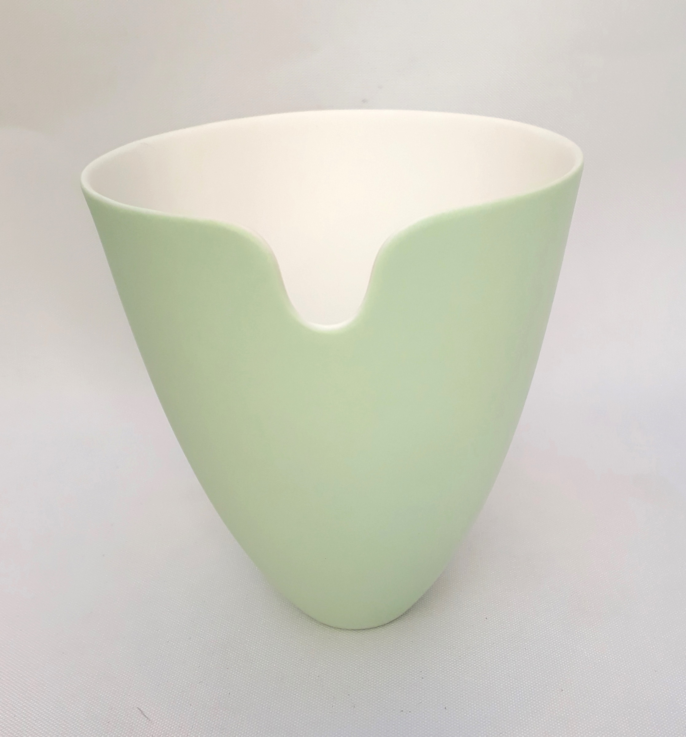 "<span class=""link fancybox-details-link""><a href=""/artists/60-sasha-wardell/works/4135-sasha-wardell-small-edge-vase-green-2017/"">View Detail Page</a></span><div class=""artist""><strong>Sasha Wardell</strong></div> <div class=""title""><em>Small Edge Vase Green</em>, 2017</div> <div class=""signed_and_dated"">inscribed with artist initials on base</div> <div class=""medium"">layered and sliced bone china</div> <div class=""dimensions"">h. 14 x w. 12 cm</div><div class=""copyright_line"">OwnArt: £ 10 x 10 Months, 0% APR</div>"