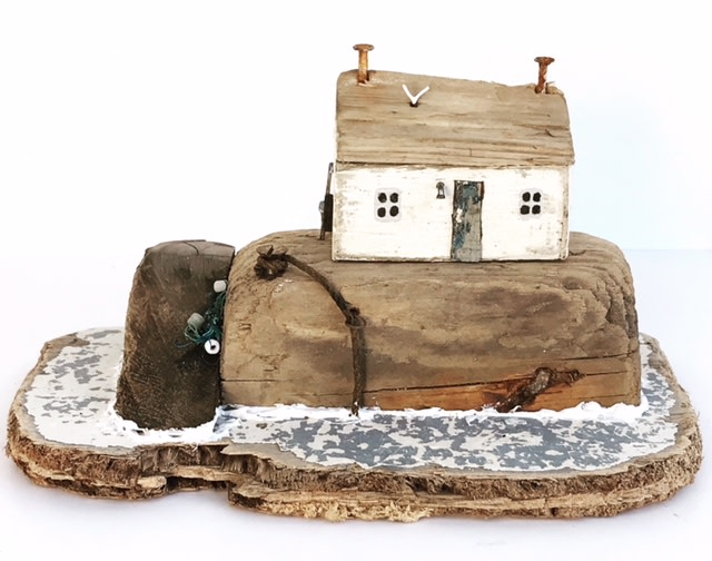 """<span class=""""link fancybox-details-link""""><a href=""""/artists/199-kirsty-elson/works/5137-kirsty-elson-mermaid-cottage-2018/"""">View Detail Page</a></span><div class=""""artist""""><strong>Kirsty Elson</strong></div> <div class=""""title""""><em>Mermaid Cottage</em>, 2018</div> <div class=""""medium"""">Driftwood and found objects</div> <div class=""""dimensions"""">11 x 20 x 12 cm<br /> 4 3/8 x 7 7/8 x 4 3/4 inches</div><div class=""""copyright_line"""">OwnArt: £ 16 x 10 Months, 0% APR</div>"""