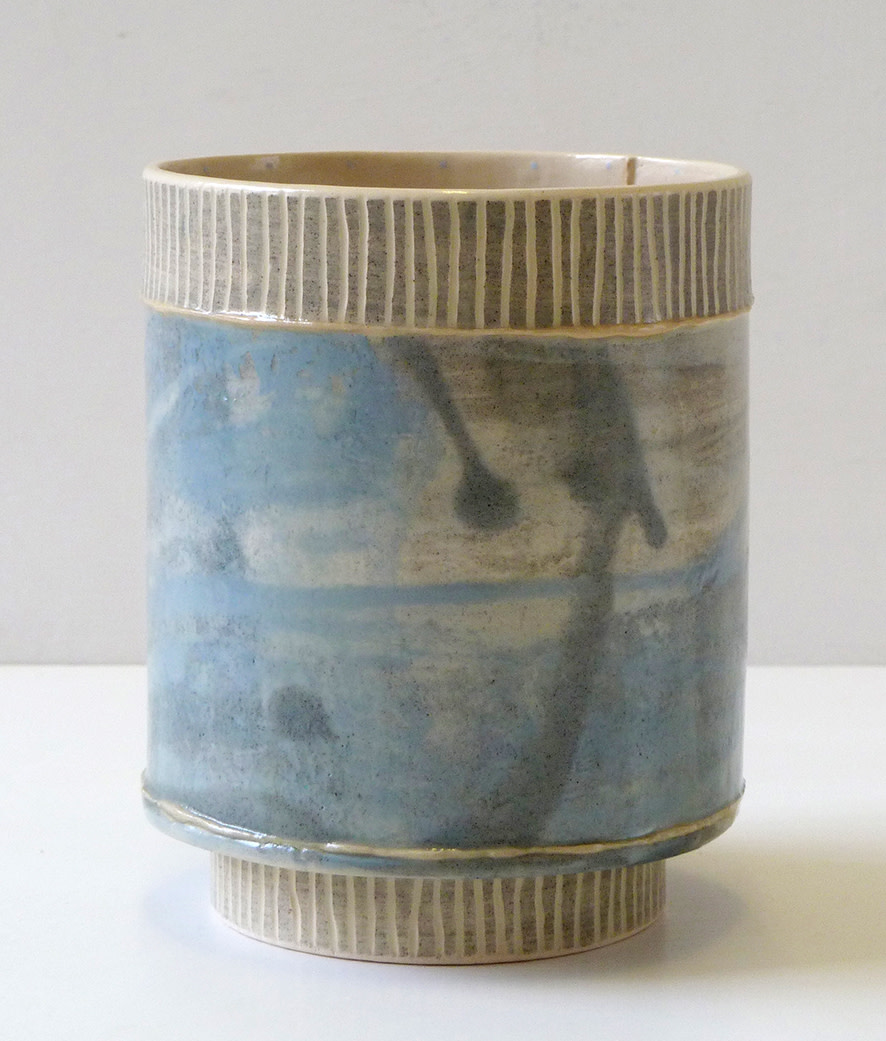 <span class=&#34;link fancybox-details-link&#34;><a href=&#34;/artists/157-emily-kriste-wilcox/works/3963-emily-kriste-wilcox-small-vessel-navy-fine-stripe-2017/&#34;>View Detail Page</a></span><div class=&#34;artist&#34;><strong>Emily-Kriste Wilcox</strong></div> <div class=&#34;title&#34;><em>Small Vessel, Navy Fine Stripe</em>, 2017</div> <div class=&#34;medium&#34;>handbuilt ceramic</div> <div class=&#34;dimensions&#34;>12 x 9.5 x 9.5 cm<br /> 4 3/4 x 3 3/4 x 3 3/4 inches</div><div class=&#34;copyright_line&#34;>OwnArt: £ 13 x £ 10 Months, 0% APR</div>