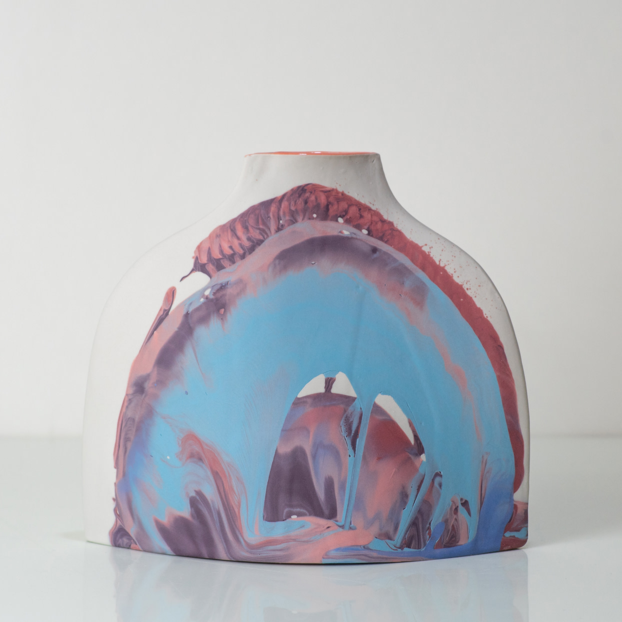 "<span class=""link fancybox-details-link""><a href=""/artists/219-james-pegg/works/6093-james-pegg-shoulder-vase-2019/"">View Detail Page</a></span><div class=""artist""><strong>James Pegg</strong></div> <div class=""title""><em>Shoulder Vase</em>, 2019</div> <div class=""medium"">action-cast stained porcelain with glazed interior <br />  (in collaboration with Lucia Fraser)</div> <div class=""dimensions"">h 20 cm x w 17.5 cm</div><div class=""price"">£205.00</div><div class=""copyright_line"">OwnArt: £ 20.50 x 10 Months, 0% APR </div>"