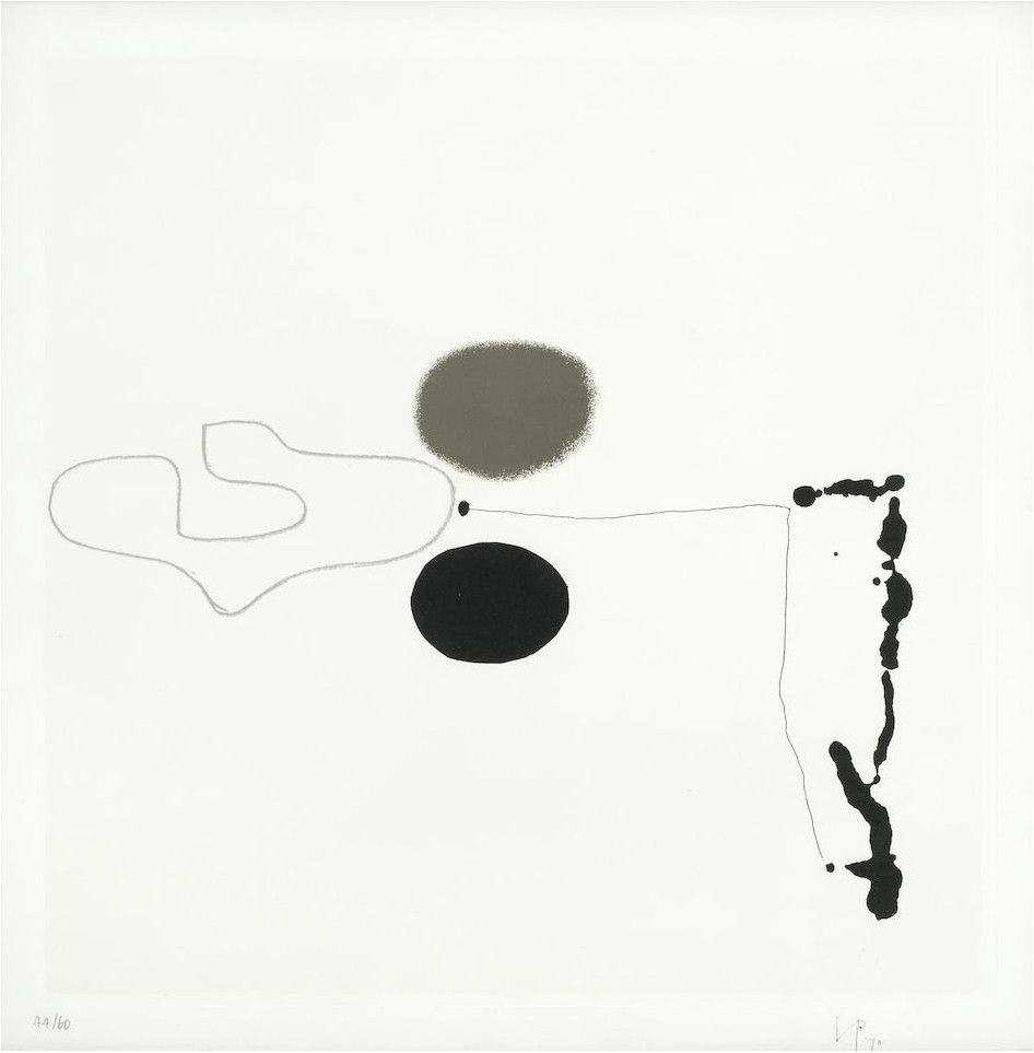 "<span class=""link fancybox-details-link""><a href=""/artists/84-victor-pasmore-ch-cbe/works/3997-victor-pasmore-ch-cbe-linear-development-2-1970/"">View Detail Page</a></span><div class=""artist""><strong>Victor Pasmore CH CBE</strong></div> 1908–1998 <div class=""title""><em>Linear Development 2</em>, 1970</div> <div class=""signed_and_dated"">signed and dated in ink, <br /> numbered 44/60 in pencil</div> <div class=""medium"">screenprint in colours on wove paper with full margins</div> <div class=""dimensions"">image: 42 x 42 cm (16 1/2 x 16 1/2 in.)</div> <div class=""edition_details"">44/60</div><div class=""copyright_line"">© The Estate of Victor Pasmore</div>"