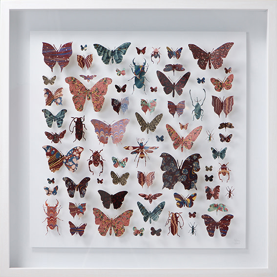 "<span class=""link fancybox-details-link""><a href=""/artists/142-helen-ward/works/3632-helen-ward-lepidoptera-4-2016/"">View Detail Page</a></span><div class=""artist""><strong>Helen Ward</strong></div> <div class=""title""><em>Lepidoptera 4</em>, 2016</div> <div class=""medium"">hand-cut Victorian hand-marbled paper, entomolgy pins</div> <div class=""dimensions"">h 63 x w 63 cm</div><div class=""copyright_line"">Own Art: £ 98 x 10 Monthly 0% APR Representative Payments</div>"