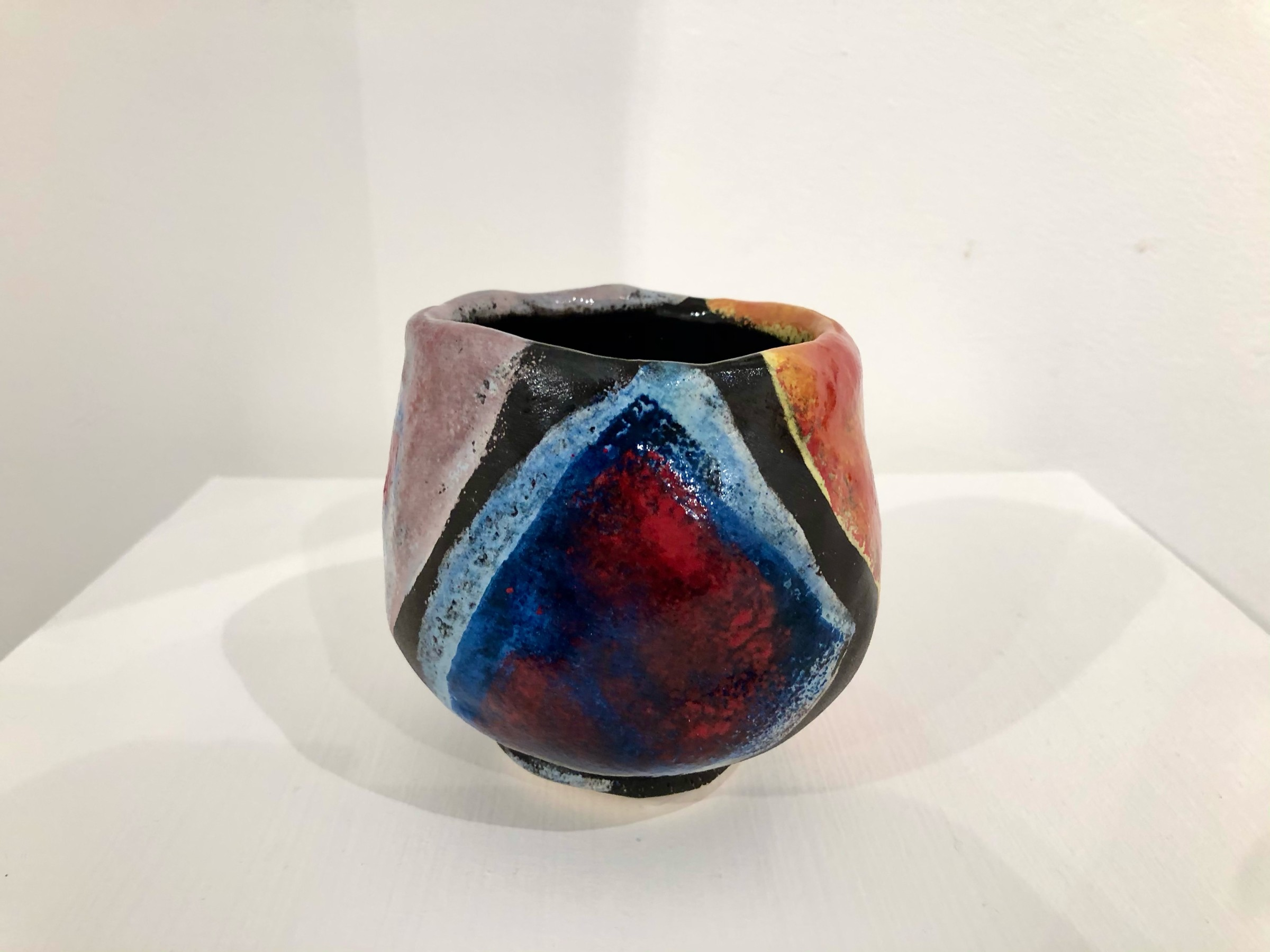 """<span class=""""link fancybox-details-link""""><a href=""""/artists/100-john-pollex/works/7419-john-pollex-tea-bowl-hand-built-2020/"""">View Detail Page</a></span><div class=""""artist""""><strong>John Pollex</strong></div> <div class=""""title""""><em>Tea bowl (hand built)</em>, 2020</div> <div class=""""signed_and_dated"""">impressed with the artist's seal mark 'JP'</div> <div class=""""medium"""">white earthenware decorated with coloured slips</div> <div class=""""dimensions"""">height. 10 cm x diameter. 9 cm</div><div class=""""price"""">£88.00</div><div class=""""copyright_line"""">Copyright The Artist</div>"""