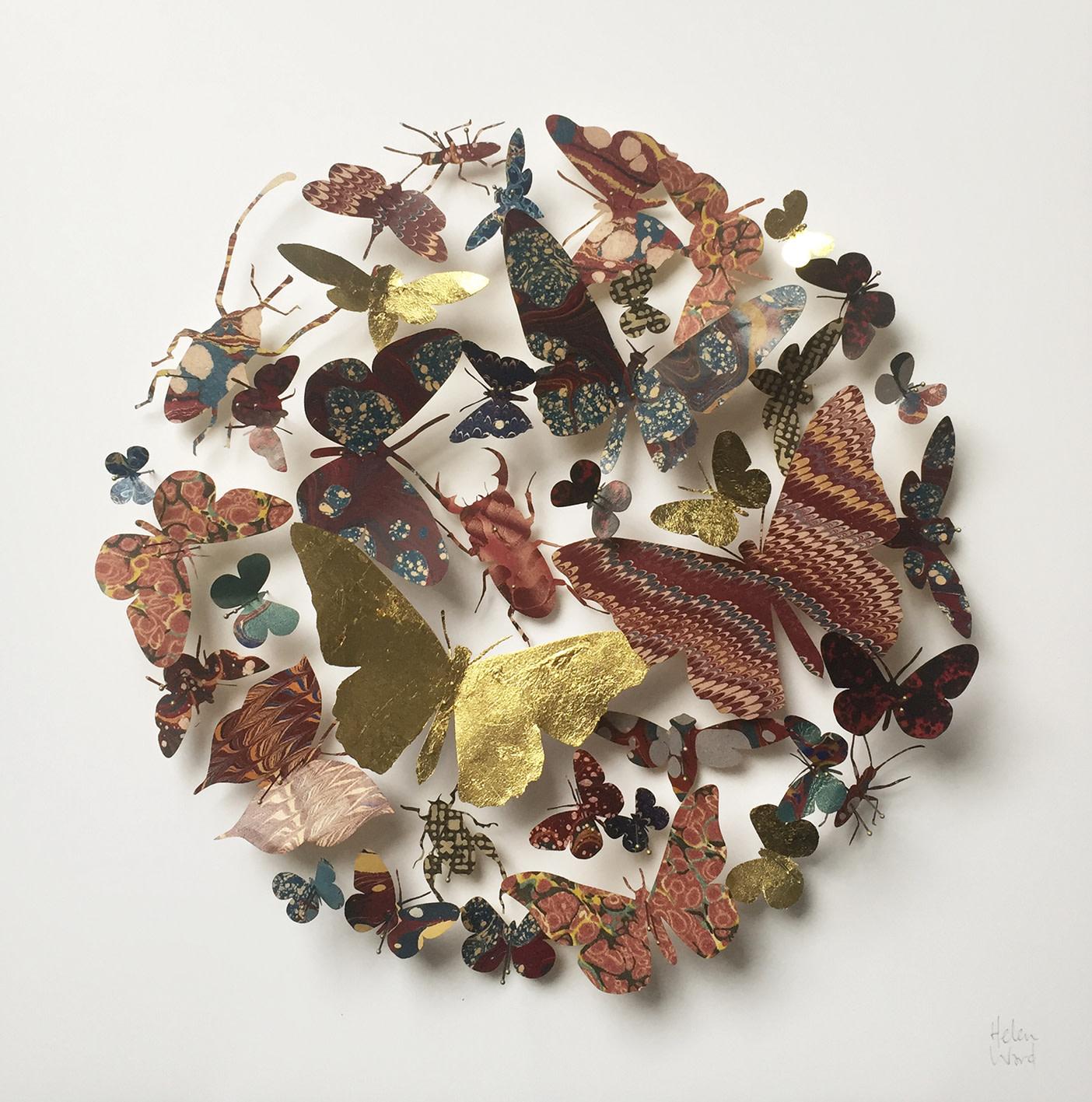 <span class=&#34;link fancybox-details-link&#34;><a href=&#34;/artists/142-helen-ward/works/6238-helen-ward-red-flutter-2019/&#34;>View Detail Page</a></span><div class=&#34;artist&#34;><strong>Helen Ward</strong></div> <div class=&#34;title&#34;><em>Red Flutter</em>, 2019</div> <div class=&#34;medium&#34;>Victorian entomology drawer, hand-marbled papers, Victorian hand written letter, gold leaf, enamel pins</div> <div class=&#34;dimensions&#34;>30 x 30 cm</div><div class=&#34;price&#34;>£480.00</div><div class=&#34;copyright_line&#34;>Own Art: £ 48 x 10 Monthly 0% APR Representative Payments</div>
