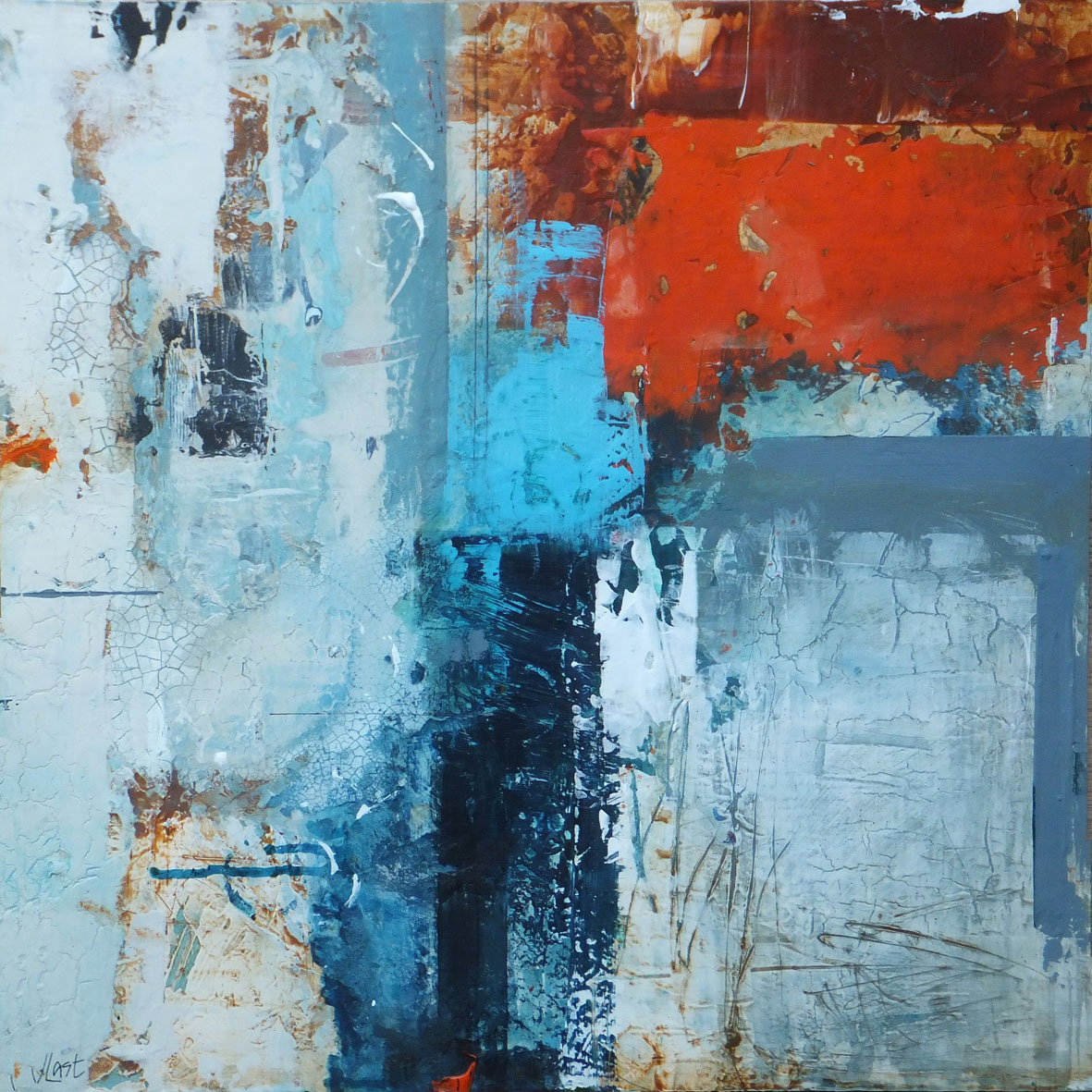 "<span class=""link fancybox-details-link""><a href=""/artists/66-joanne-last/works/6986-joanne-last-weathered-1-2020/"">View Detail Page</a></span><div class=""artist""><strong>Joanne Last</strong></div> <div class=""title""><em>Weathered 1</em>, 2020</div> <div class=""signed_and_dated"">signed on back</div> <div class=""medium"">Acrylic on board</div> <div class=""dimensions"">h. 66 x w. 66 cm </div><div class=""price"">£1,050.00</div><div class=""copyright_line"">Ownart: £105 x 10 Months, 0% APR</div>"
