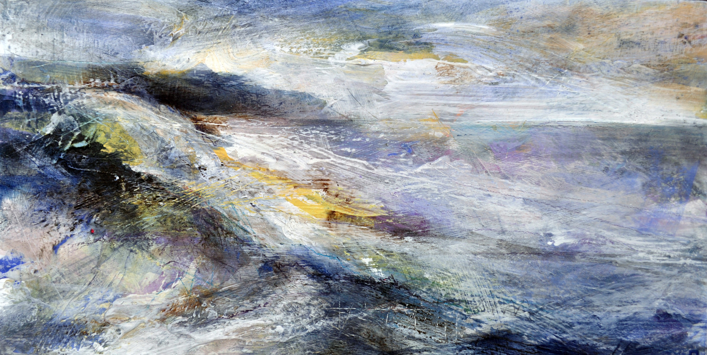 <span class=&#34;link fancybox-details-link&#34;><a href=&#34;/artists/90-freya-horsley/works/4172-freya-horsley-turn-2017/&#34;>View Detail Page</a></span><div class=&#34;artist&#34;><strong>Freya Horsley</strong></div> <div class=&#34;title&#34;><em>Turn</em>, 2017</div> <div class=&#34;signed_and_dated&#34;>signed on reverse</div> <div class=&#34;medium&#34;>mixed media on board, framed and glazed</div> <div class=&#34;dimensions&#34;>36 x 66 cm<br /> 14 1/8 x 26 inches</div><div class=&#34;copyright_line&#34;>OwnArt: £ 38 x 10 Months, 0% APR</div>