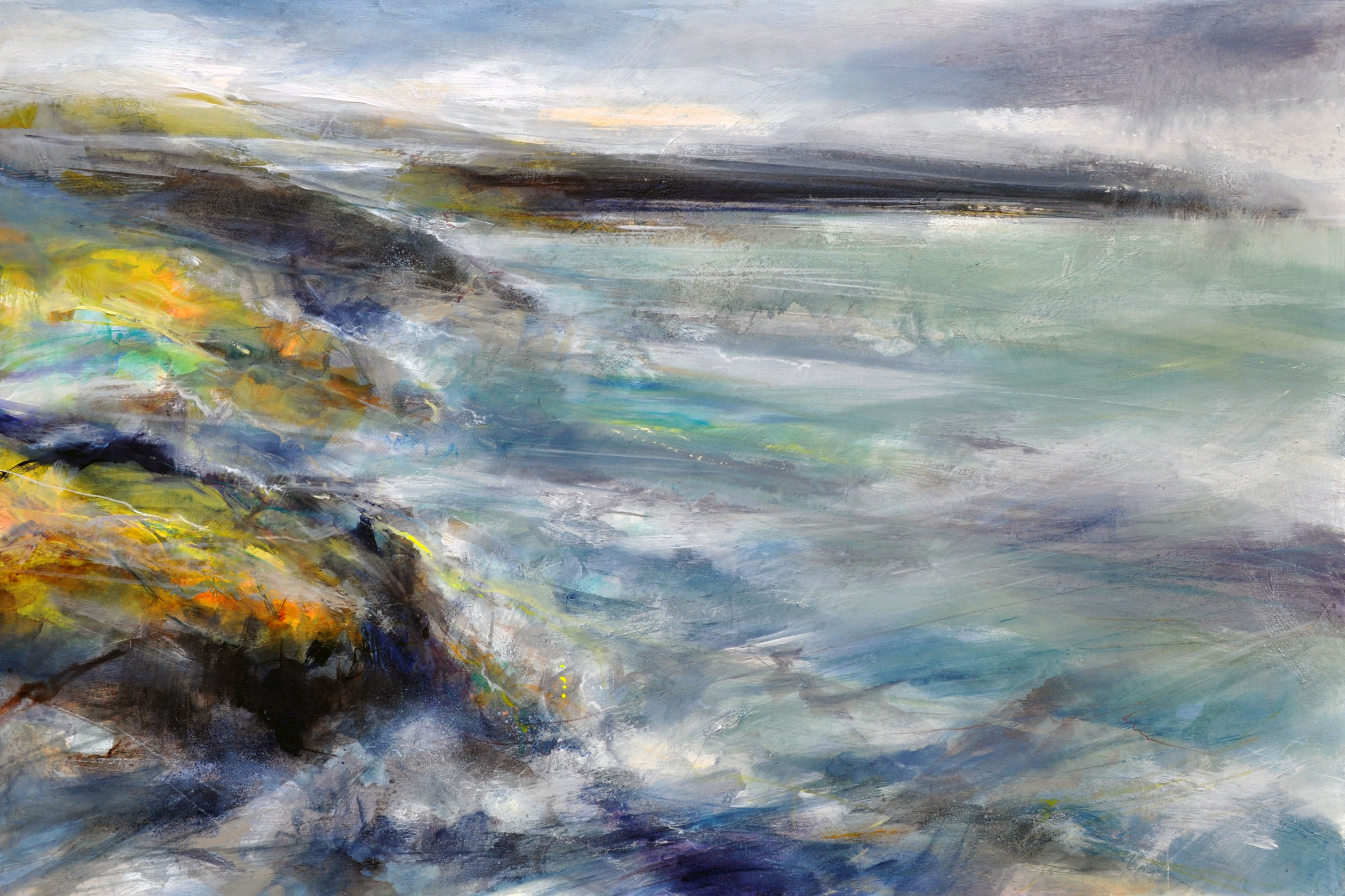 <span class=&#34;link fancybox-details-link&#34;><a href=&#34;/artists/90-freya-horsley/works/4165-freya-horsley-cape-2017/&#34;>View Detail Page</a></span><div class=&#34;artist&#34;><strong>Freya Horsley</strong></div> <div class=&#34;title&#34;><em>Cape</em>, 2017</div> <div class=&#34;signed_and_dated&#34;>signed on reverse</div> <div class=&#34;medium&#34;>mixed media on canvas</div> <div class=&#34;dimensions&#34;>80 x 120 cm<br /> 31 1/2 x 47 1/4 inches</div><div class=&#34;copyright_line&#34;>OwnArt: £ 175 x 10 Months, 0% APR</div>