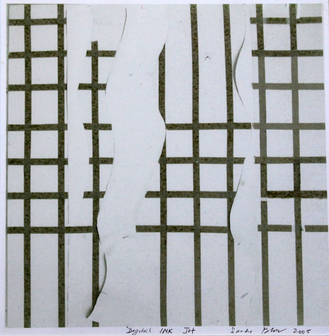 "<span class=""link fancybox-details-link""><a href=""/artists/70-sandra-blow-ra/works/4054-sandra-blow-ra-broken-lattice-2005/"">View Detail Page</a></span><div class=""artist""><strong>Sandra Blow RA</strong></div> 1925–2006 <div class=""title""><em>Broken Lattice</em>, 2005</div> <div class=""signed_and_dated"">signed and dated</div> <div class=""medium"">digital inkjet print</div> <div class=""dimensions"">27.9 x 27.9 cm<br /> 11 x 11 in</div><div class=""copyright_line"">© The Estate of Sandra Blow</div>"