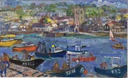 """<span class=""""link fancybox-details-link""""><a href=""""/artists/67-linda-weir/works/4881-linda-weir-intense-colours-st-ives-summer/"""">View Detail Page</a></span><div class=""""artist""""><strong>Linda Weir</strong></div> <div class=""""title""""><em>Intense colours, St Ives Summer</em></div> <div class=""""signed_and_dated"""">signed 'LW'</div> <div class=""""dimensions"""">24 x 38 cm<br /> 9 1/2 x 15 inches</div><div class=""""price"""">£850.00</div><div class=""""copyright_line"""">Copyright The Artist</div>"""