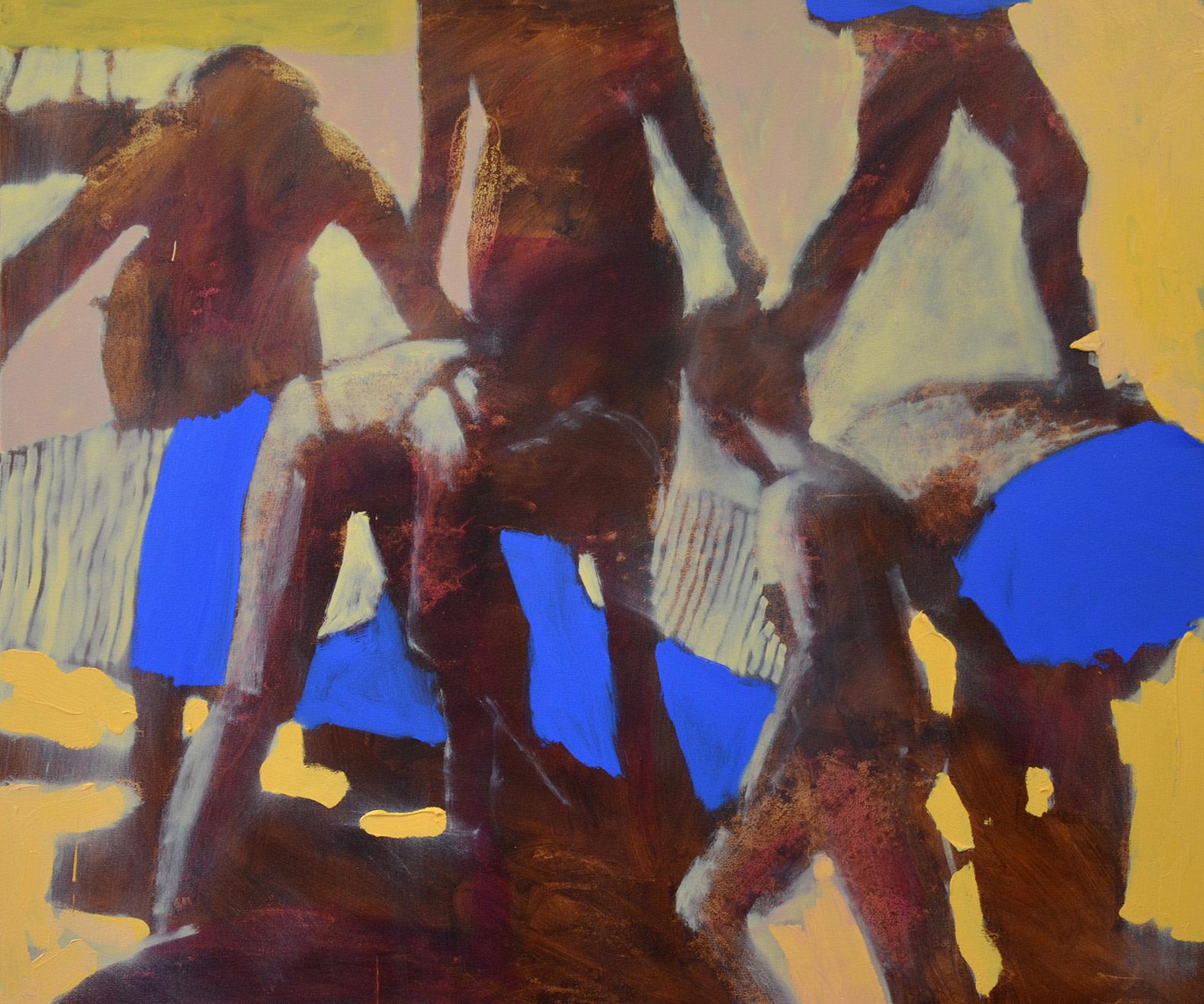 "<span class=""link fancybox-details-link""><a href=""/artists/42-nick-bodimeade/works/7181-nick-bodimeade-blue-shorts-2020/"">View Detail Page</a></span><div class=""artist""><strong>Nick Bodimeade</strong></div> b. 1957 <div class=""title""><em>Blue Shorts</em>, 2020</div> <div class=""signed_and_dated"">signed, titled and dated to reverse</div> <div class=""medium"">oil on canvas</div> <div class=""dimensions"">h. 110 x w. 130 cm</div><div class=""price"">£4,800.00</div><div class=""copyright_line"">Own Art: £ 250 x 10 Months, 0% APR + £ 2,300 deposit</div>"