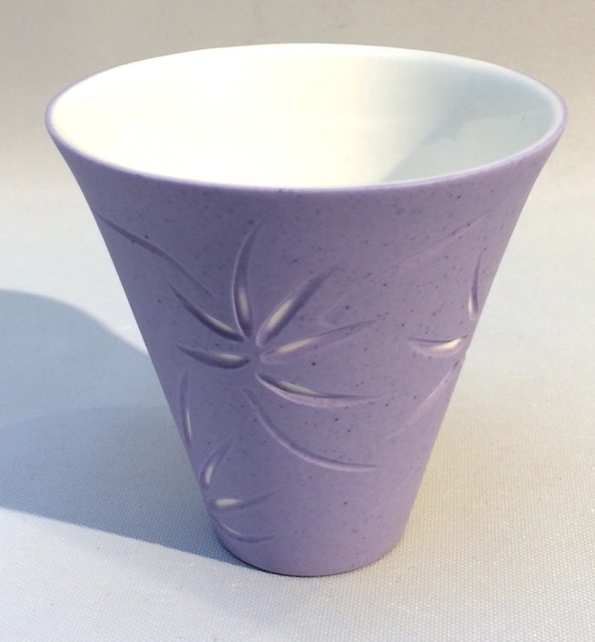 "<span class=""link fancybox-details-link""><a href=""/artists/60-sasha-wardell/works/3718-sasha-wardell-incised-cup-violet-2016/"">View Detail Page</a></span><div class=""artist""><strong>Sasha Wardell</strong></div> <div class=""title""><em>Incised  cup - violet</em>, 2016</div> <div class=""signed_and_dated"">inscribed with artist initials on base</div> <div class=""medium"">layered and sliced bone china</div><div class=""price"">£80.00</div>"