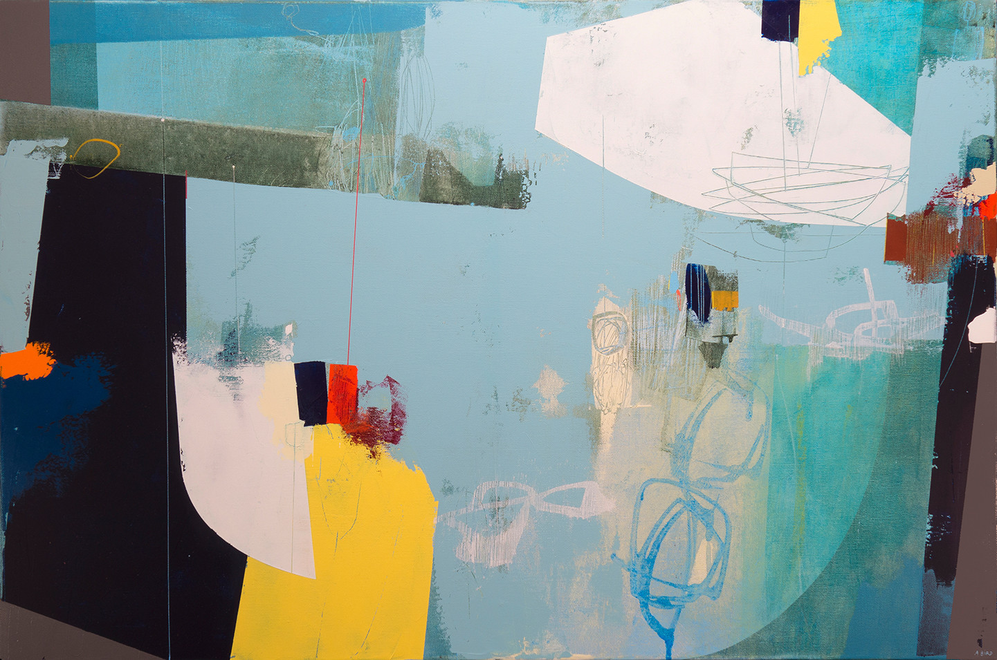 <span class=&#34;link fancybox-details-link&#34;><a href=&#34;/artists/77-andrew-bird/works/5270-andrew-bird-in-the-lee-2017-18/&#34;>View Detail Page</a></span><div class=&#34;artist&#34;><strong>Andrew Bird</strong></div> 1969 – <div class=&#34;title&#34;><em>In the Lee</em>, 2017/18</div> <div class=&#34;signed_and_dated&#34;>signed</div> <div class=&#34;medium&#34;>acrylic on canvas</div> <div class=&#34;dimensions&#34;>h 61 x w 91.5 cm<br /> 24 1/8 x 36 1/8 in</div><div class=&#34;price&#34;>£2,640.00</div><div class=&#34;copyright_line&#34;>OwnArt: £ 250 x 10 Months, 0% APR + deposit £ 140</div>