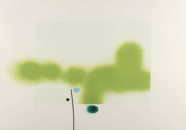"<span class=""link fancybox-details-link""><a href=""/artists/84-victor-pasmore-ch-cbe/works/4002-victor-pasmore-ch-cbe-untitled-8-lynton-g66-1990/"">View Detail Page</a></span><div class=""artist""><strong>Victor Pasmore CH CBE</strong></div> 1908–1998 <div class=""title""><em>Untitled 8 (Lynton G66)</em>, 1990</div> <div class=""signed_and_dated"">initalled, dated and numbered in pencil</div> <div class=""medium""> Screenprint in colours, on wove paper,</div> <div class=""dimensions"">59.3 x 83.3 cm<br /> (23 3/8 x 32 3/4 in.)</div> <div class=""edition_details"">/70</div><div class=""copyright_line"">© The Estate of Victor Pasmore</div>"