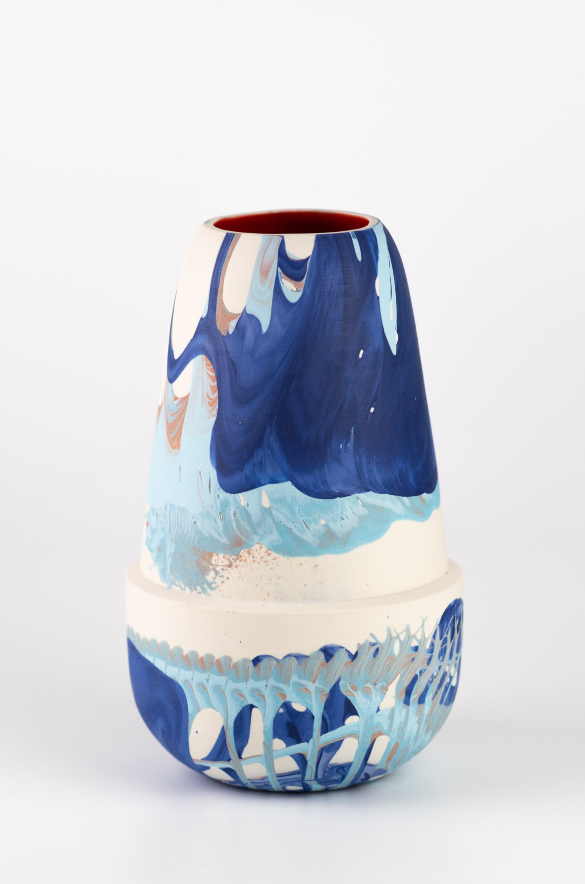 "<span class=""link fancybox-details-link""><a href=""/artists/219-james-pegg/works/6575-james-pegg-achladi-vase-2019/"">View Detail Page</a></span><div class=""artist""><strong>James Pegg</strong></div> <div class=""title""><em>Achladi Vase</em>, 2019</div> <div class=""medium"">action-cast stained porcelain with glazed interior</div><div class=""price"">£180.00</div><div class=""copyright_line"">OwnArt: £ 18 x 10 months, 0% APR</div>"