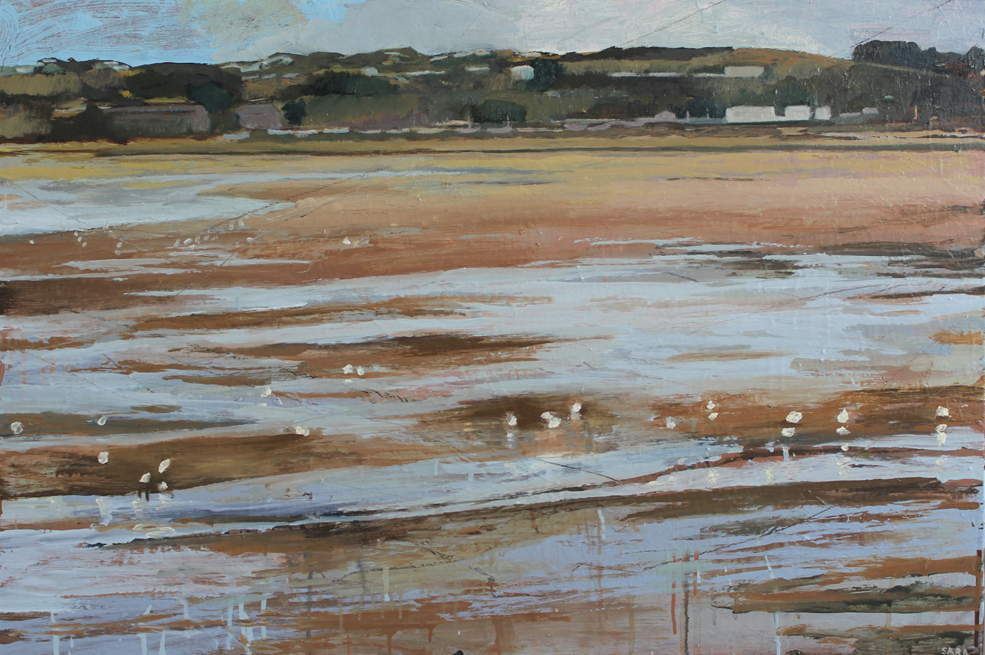 "<span class=""link fancybox-details-link""><a href=""/artists/159-sara-dudman-rwa/works/7044-sara-dudman-rwa-herring-gulls-hayle-estuary-1-2020/"">View Detail Page</a></span><div class=""artist""><strong>Sara Dudman RWA</strong></div> <div class=""title""><em>Herring Gulls (Hayle Estuary) 1</em>, 2020</div> <div class=""medium"">Oil on Canvas</div> <div class=""dimensions"">92cms x 61cms (unframed)<br /> 98cms x 67cms tray framed</div><div class=""copyright_line"">Own Art £160 x 10 months, 0% APR</div>"
