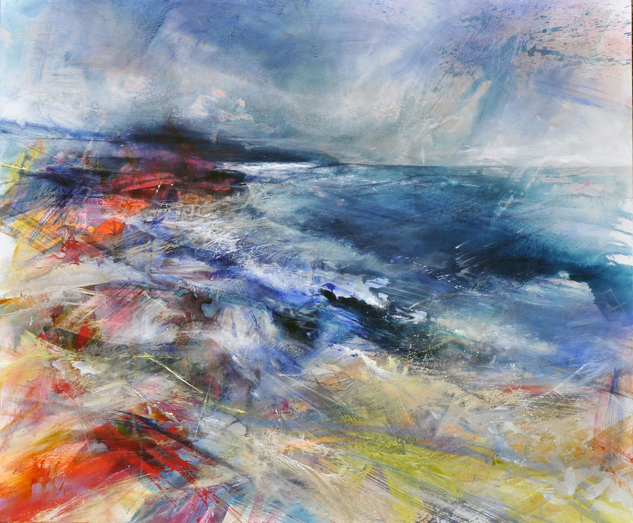<span class=&#34;link fancybox-details-link&#34;><a href=&#34;/artists/90-freya-horsley/works/5535-freya-horsley-darting-light-2018/&#34;>View Detail Page</a></span><div class=&#34;artist&#34;><strong>Freya Horsley</strong></div> <div class=&#34;title&#34;><em>Darting Light</em>, 2018</div> <div class=&#34;signed_and_dated&#34;>signed on reverse</div> <div class=&#34;medium&#34;>mixed media on canvas</div> <div class=&#34;dimensions&#34;>100 x 120 cm<br /> 39 3/8 x 47 1/4 inches</div><div class=&#34;copyright_line&#34;>£ 220 x 10 Months, OwnArt 0% APR</div>
