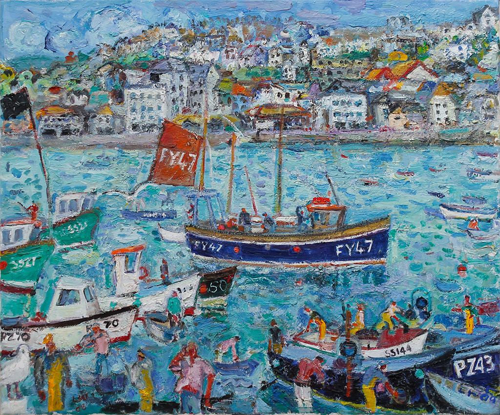 """<span class=""""link fancybox-details-link""""><a href=""""/artists/67-linda-weir/works/4443-linda-weir-high-days-and-holidays-st-ives-2009/"""">View Detail Page</a></span><div class=""""artist""""><strong>Linda Weir</strong></div> <div class=""""title""""><em>High Days and Holidays, St Ives</em>, 2009</div> <div class=""""signed_and_dated"""">Signed 'LW'</div> <div class=""""medium"""">oil on canvas</div> <div class=""""dimensions"""">51 x 61 cm unframed<br /> 20 1/8 x 24 1/8 inches<br /> 70 x 81 cm framed<br /> </div><div class=""""copyright_line"""">OwnArt: £ 180 x 10 Months, 0% APR</div>"""