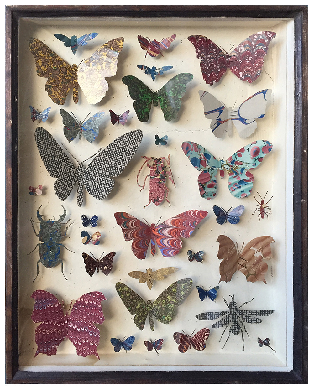 "<span class=""link fancybox-details-link""><a href=""/artists/142-helen-ward/works/6234-helen-ward-entomology-case-8-2019/"">View Detail Page</a></span><div class=""artist""><strong>Helen Ward</strong></div> <div class=""title""><em>Entomology Case 8</em>, 2019</div> <div class=""medium"">Victorian entomology drawer, hand-marbled papers, enamel pins</div> <div class=""dimensions"">39 x 29 cm</div><div class=""price"">£595.00</div><div class=""copyright_line"">Own Art: £ 59.50 x 10 Monthly 0% APR Representative Payments</div>"