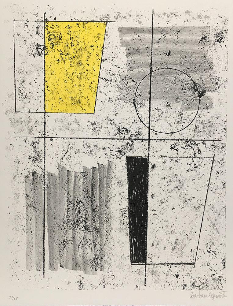 <span class=&#34;link fancybox-details-link&#34;><a href=&#34;/artists/108-dame-barbara-hepworth-dbe/works/4930-dame-barbara-hepworth-dbe-three-forms-ascending-1968/&#34;>View Detail Page</a></span><div class=&#34;artist&#34;><strong>Dame Barbara Hepworth DBE</strong></div> 1903–1975 <div class=&#34;title&#34;><em>Three Forms Ascending</em>, 1968</div> <div class=&#34;signed_and_dated&#34;>signed and numbered in pencil </div> <div class=&#34;medium&#34;>lithograph printed in colours on BFK Rives wove paper</div> <div class=&#34;dimensions&#34;>sheet size: 64.8 x 50 cm<br /> 25 1/2 x 19 3/4 in</div> <div class=&#34;edition_details&#34;>Edition 33 of 65</div><div class=&#34;copyright_line&#34;>© The Estate of Dame Barbara Hepworth</div>