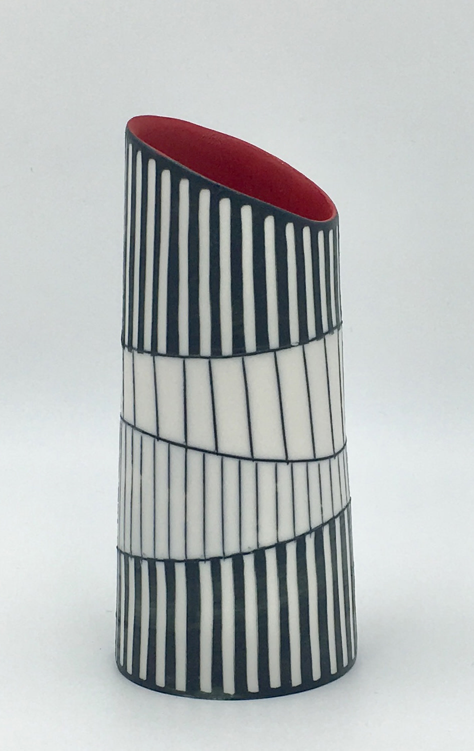 "<span class=""link fancybox-details-link""><a href=""/artists/195-lara-scobie/works/6530-lara-scobie-vase-with-tilted-rim-2019/"">View Detail Page</a></span><div class=""artist""><strong>Lara Scobie</strong></div> <div class=""title""><em>Vase with Tilted Rim</em>, 2019</div> <div class=""medium"">Porcelain</div>"