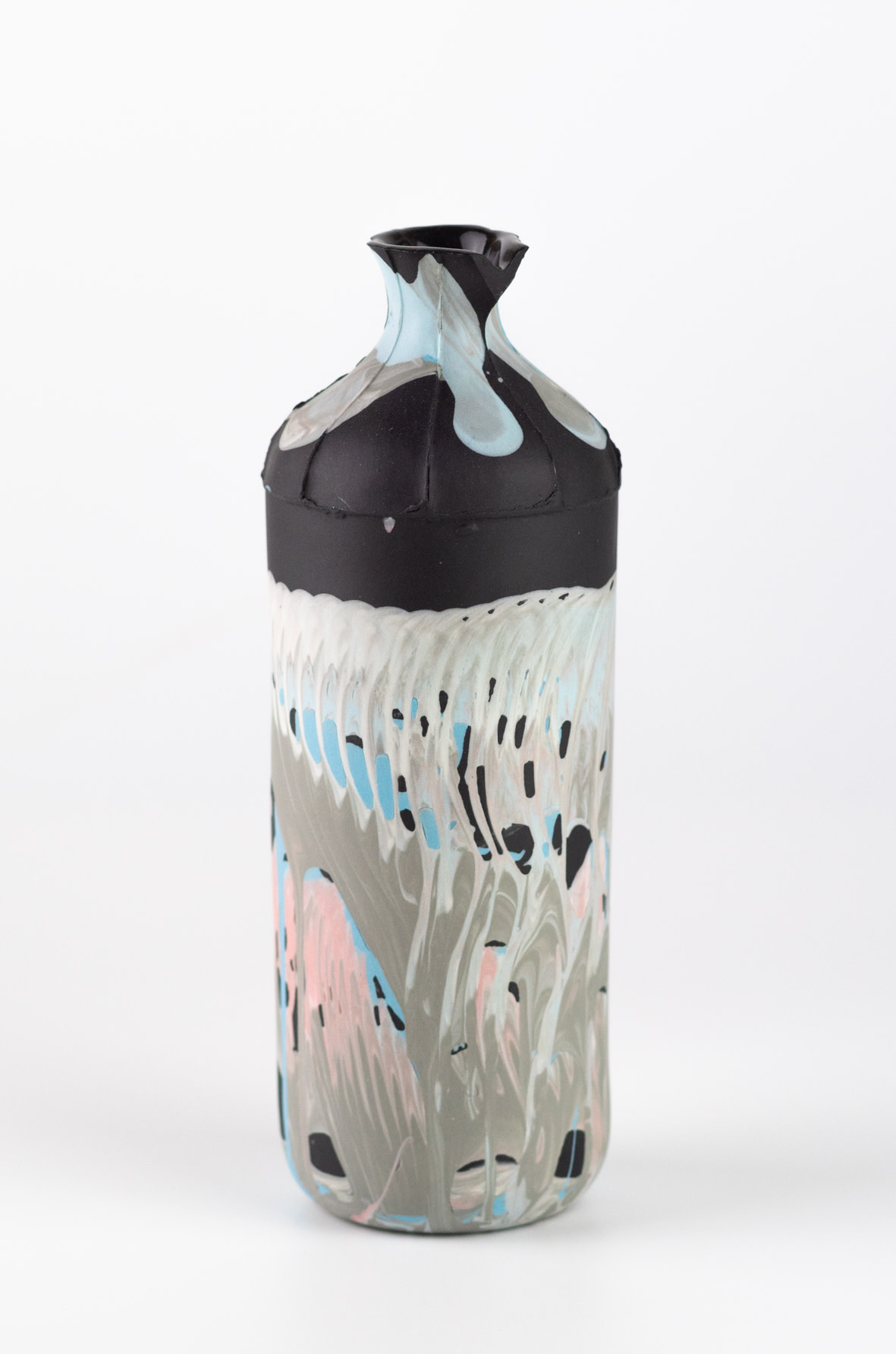 "<span class=""link fancybox-details-link""><a href=""/artists/219-james-pegg/works/6569-james-pegg-tall-bottle-2019/"">View Detail Page</a></span><div class=""artist""><strong>James Pegg</strong></div> <div class=""title""><em>Tall Bottle</em>, 2019</div> <div class=""medium"">action-cast stained porcelain with glazed interior</div> <div class=""dimensions"">h 17cm, dia 6 cm</div><div class=""price"">£120.00</div><div class=""copyright_line"">OwnArt: £ 12 x 10 Months, 0% APR </div>"