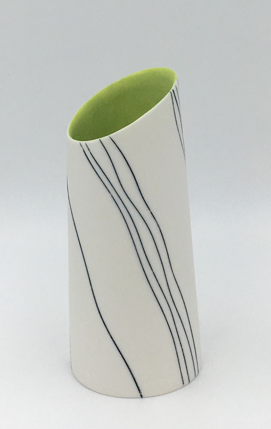 "<span class=""link fancybox-details-link""><a href=""/artists/195-lara-scobie/works/6533-lara-scobie-vase-with-tilted-rim-2019/"">View Detail Page</a></span><div class=""artist""><strong>Lara Scobie</strong></div> <div class=""title""><em>Vase with Tilted Rim</em>, 2019</div> <div class=""medium"">Porcelain</div>"