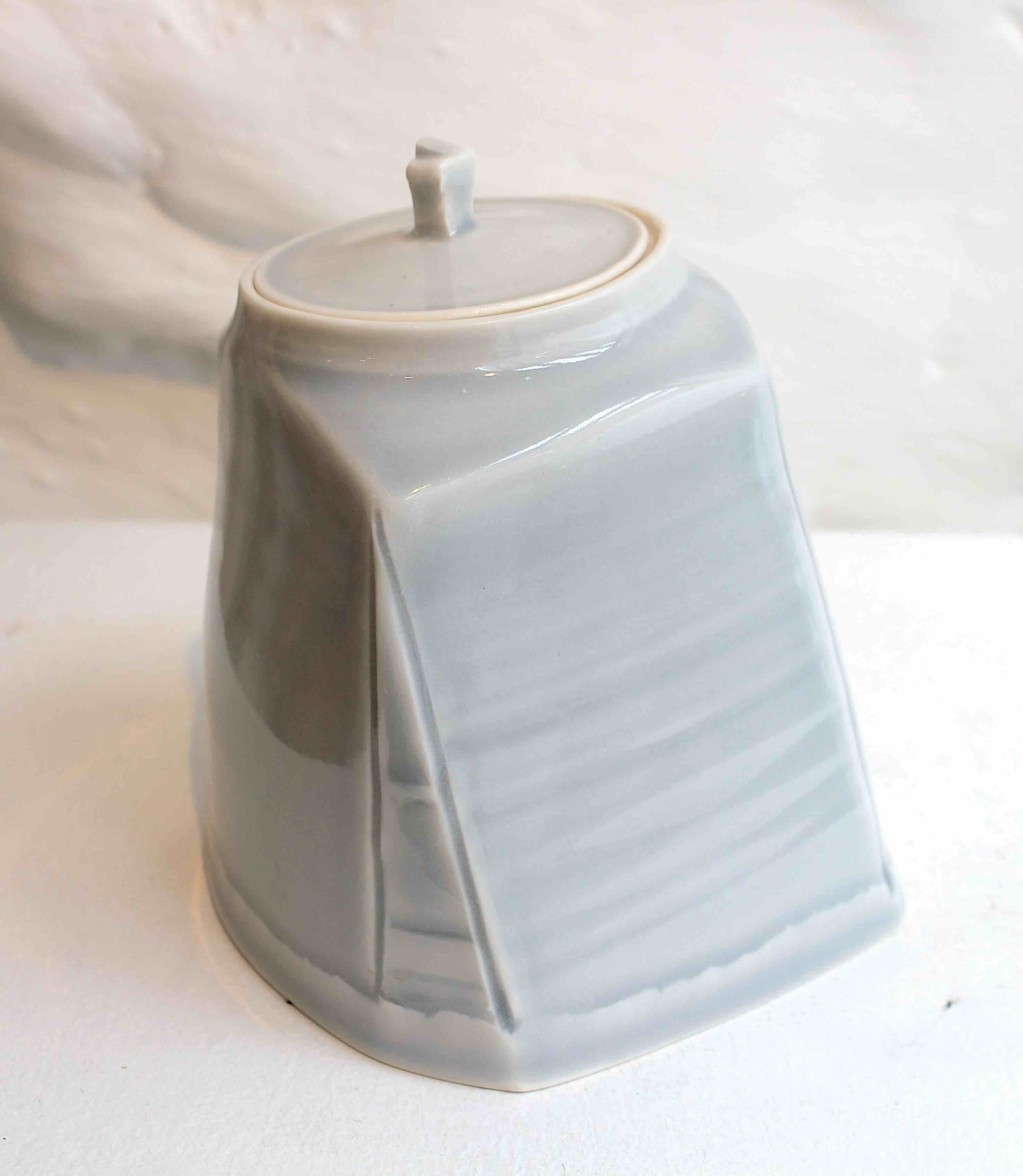 "<span class=""link fancybox-details-link""><a href=""/artists/99-carina-ciscato/works/5765-carina-ciscato-pale-grey-blue-lidded-pot-2018/"">View Detail Page</a></span><div class=""artist""><strong>Carina Ciscato</strong></div> <div class=""title""><em>Pale Grey/Blue Lidded Pot</em>, 2018</div> <div class=""signed_and_dated"">porcelain</div> <div class=""medium"">porcelain</div> <div class=""dimensions"">12 x 10 cm<br /> 4 3/4 x 4 inches</div><div class=""price"">£350.00</div><div class=""copyright_line"">OwnArt: £35 x 10 Months, 0% APR</div>"